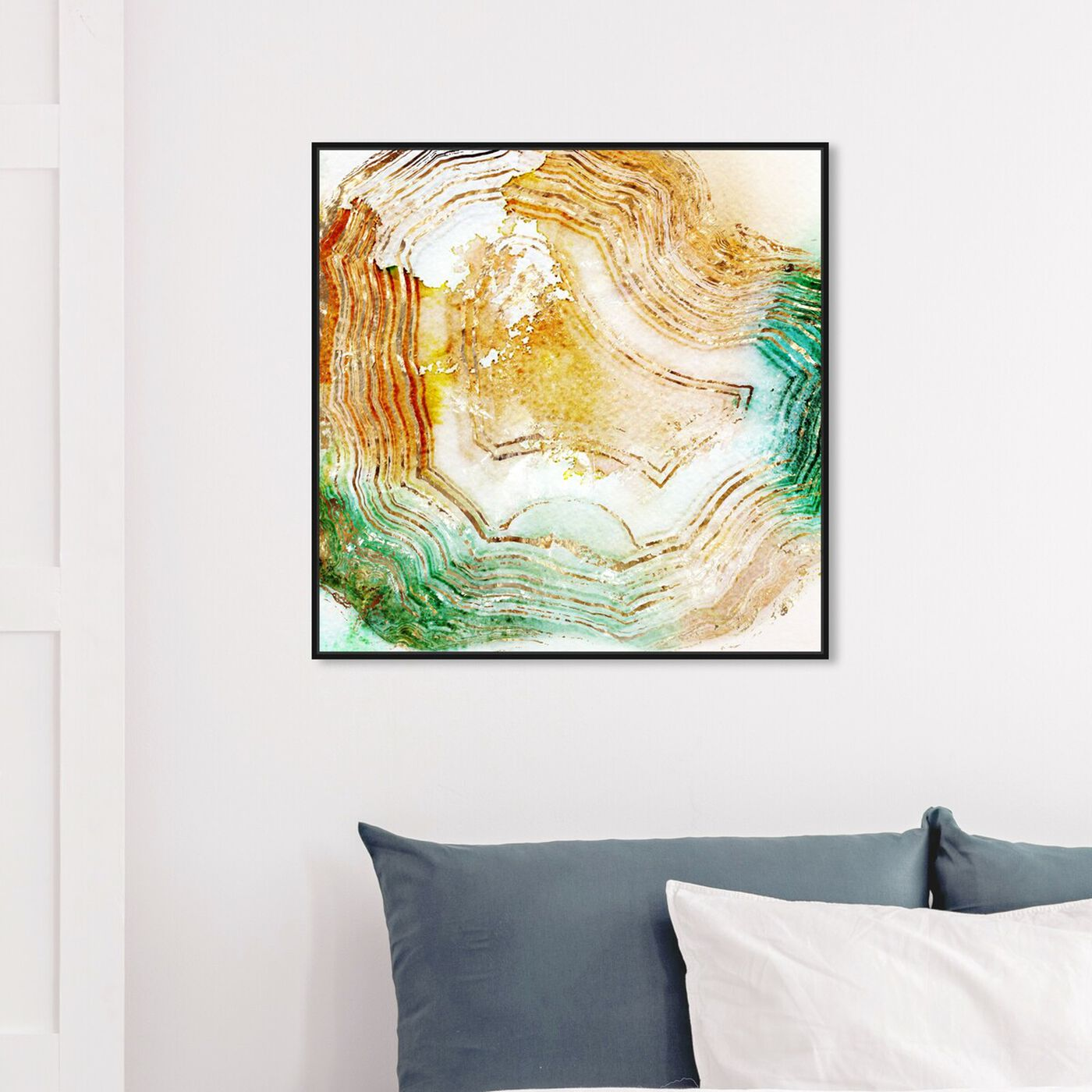 Hanging view of Butter Agate - Signature Collection featuring abstract and crystals art.