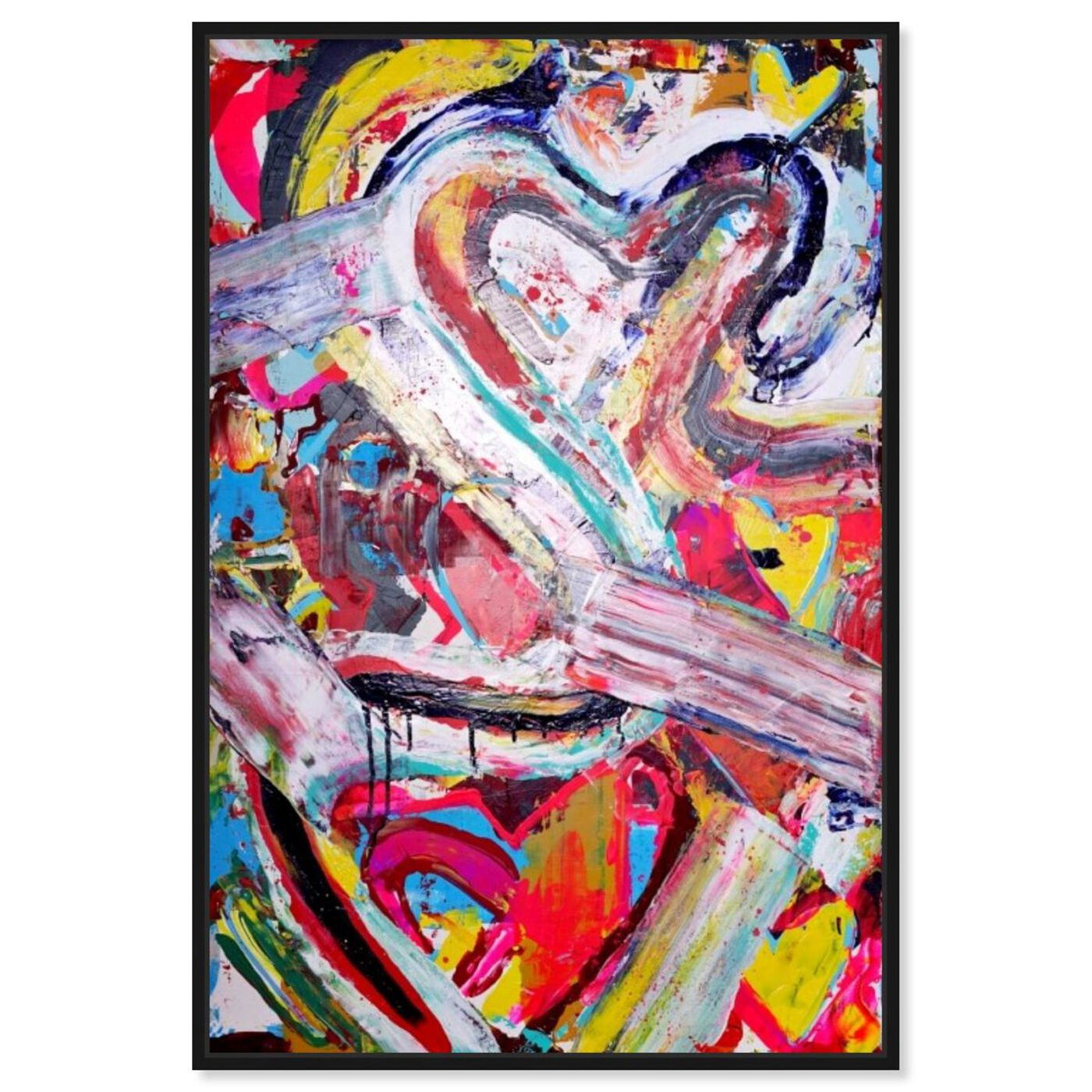 Front view of Love Remix by Tiago Magro featuring abstract and shapes art.