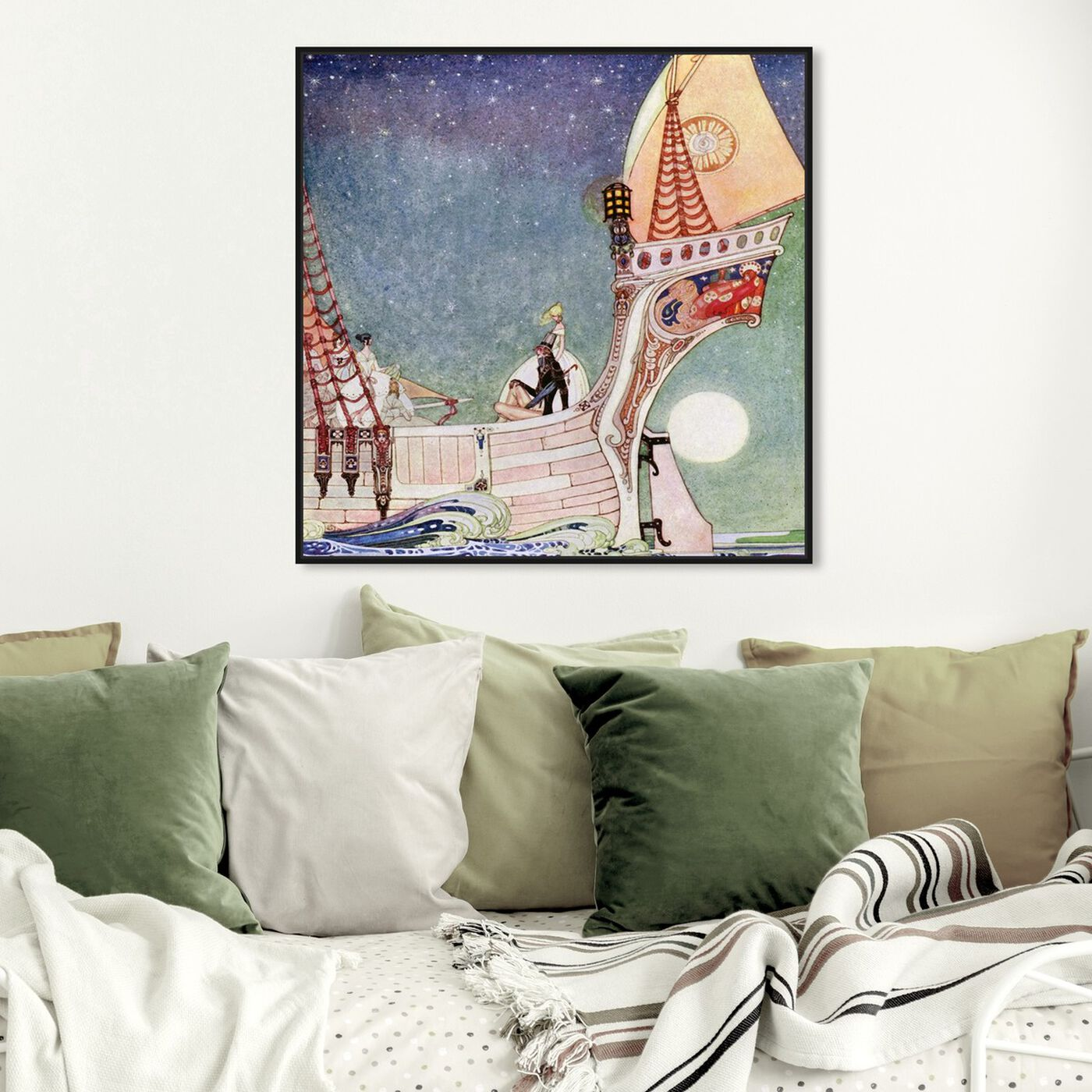 Hanging view of Magical Boat featuring fantasy and sci-fi and fairy tales art.