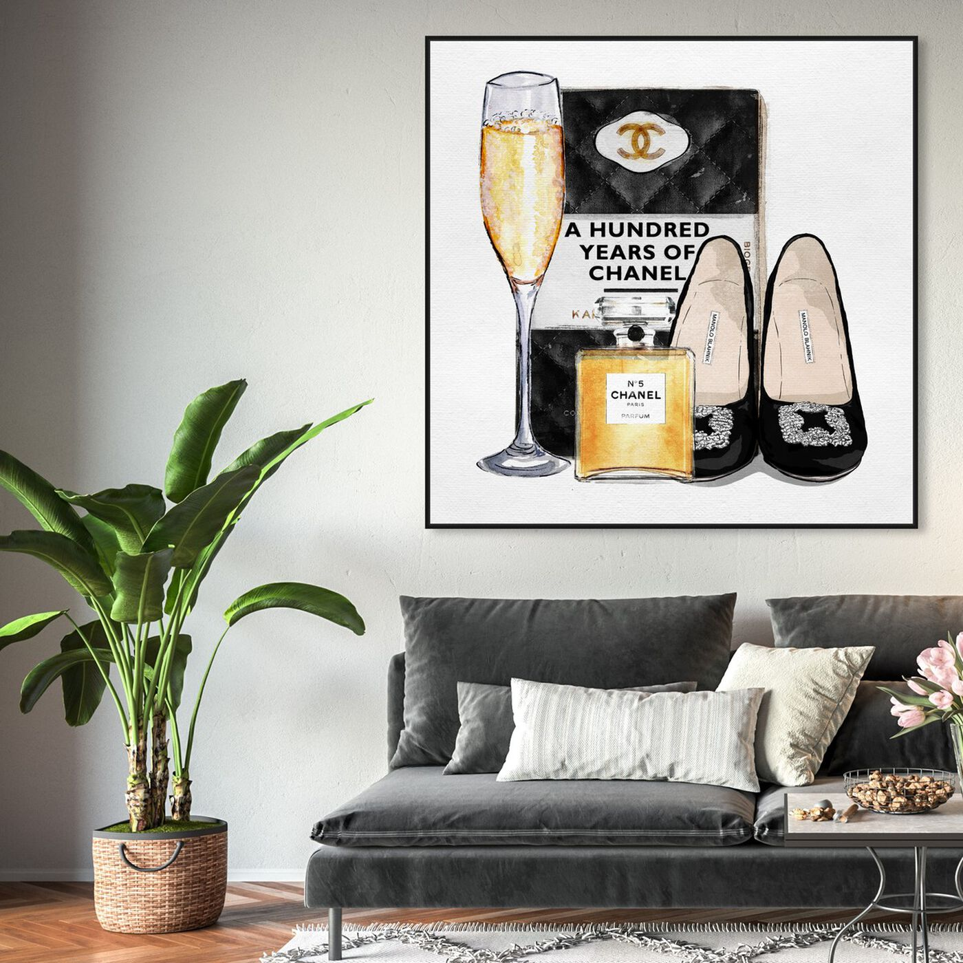 Hanging view of Elegant Reading Essentials featuring fashion and glam and books art.