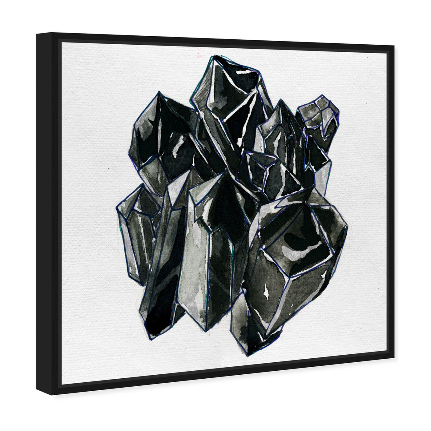 Angled view of Precious Crystals II featuring abstract and crystals art.