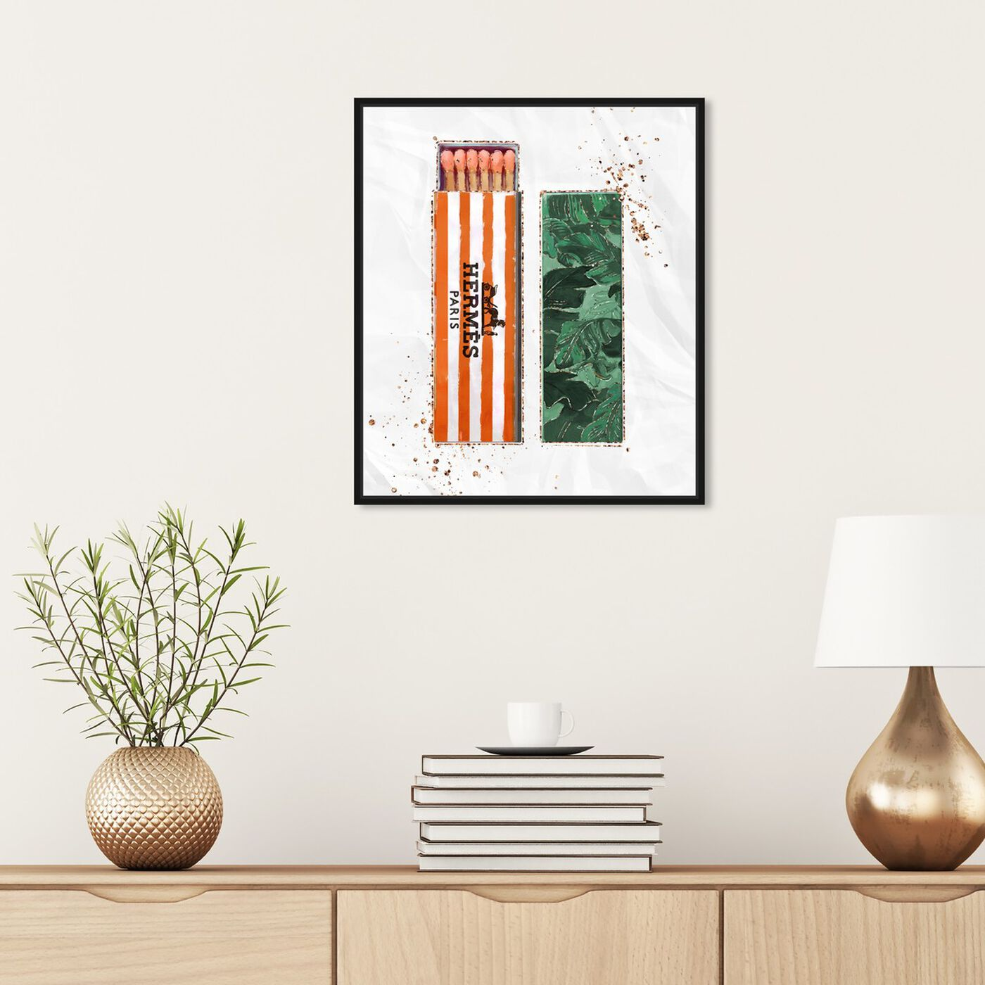 Hanging view of Orange Fashion Matches featuring fashion and glam and lifestyle art.