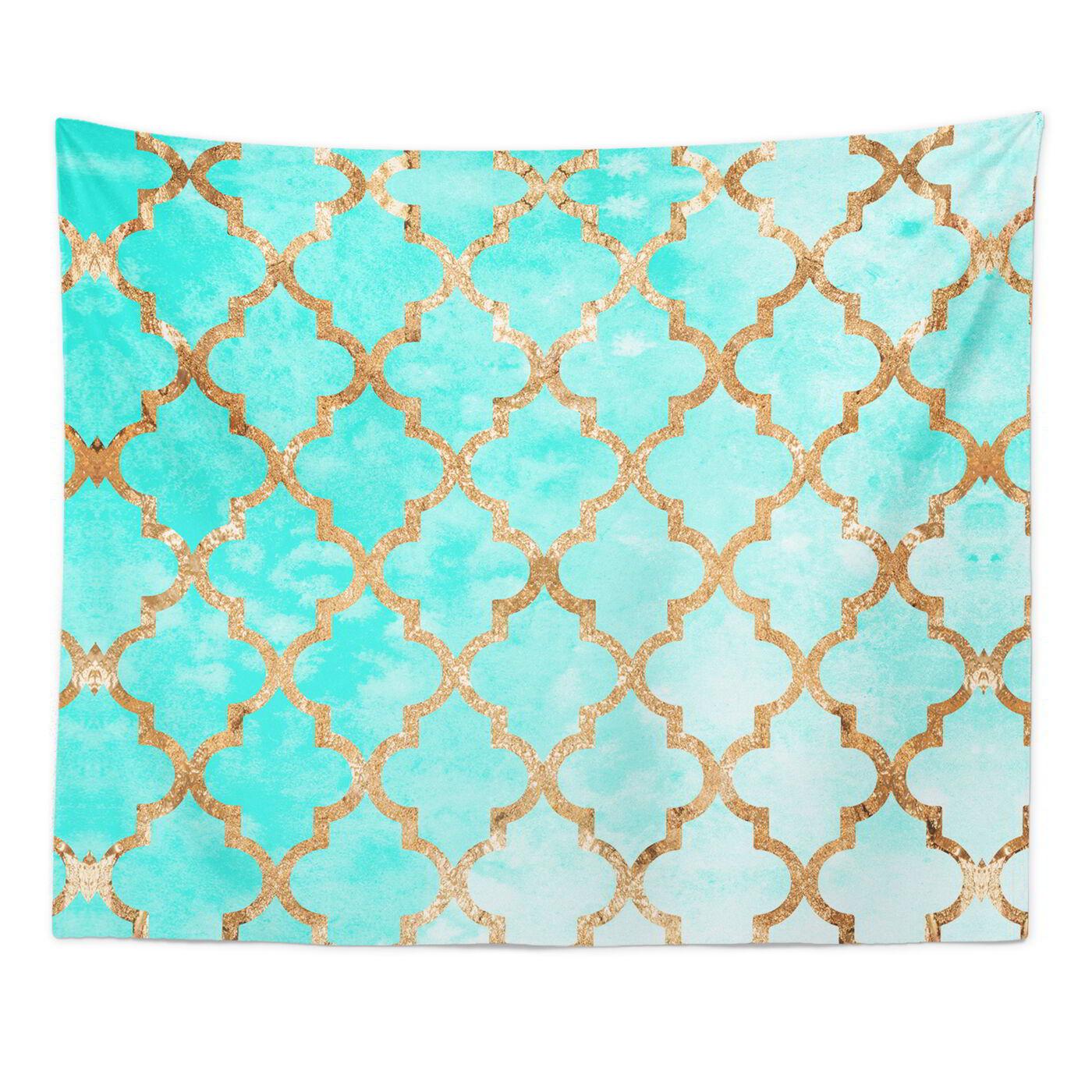 Arabesque Turquoise Tapestry Art