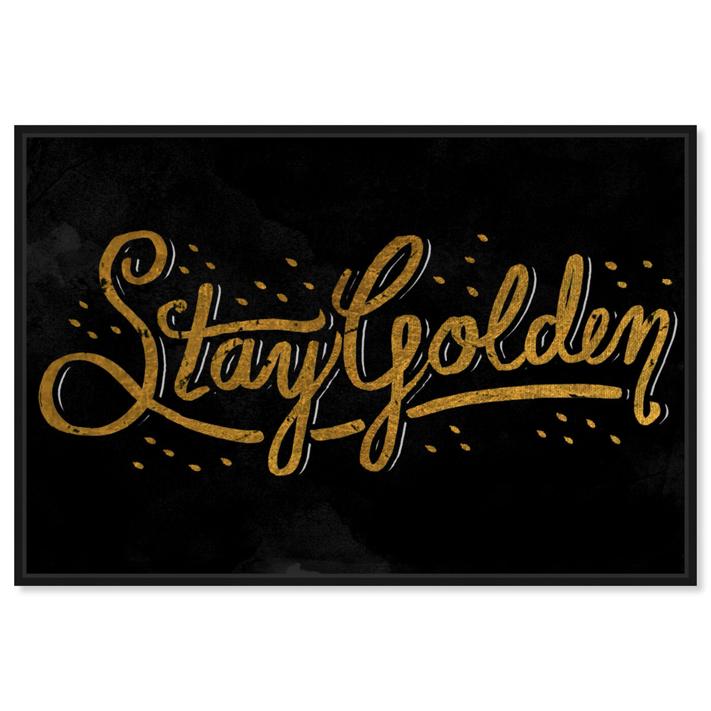 Front view of Stay Golden II featuring typography and quotes and beauty quotes and sayings art.