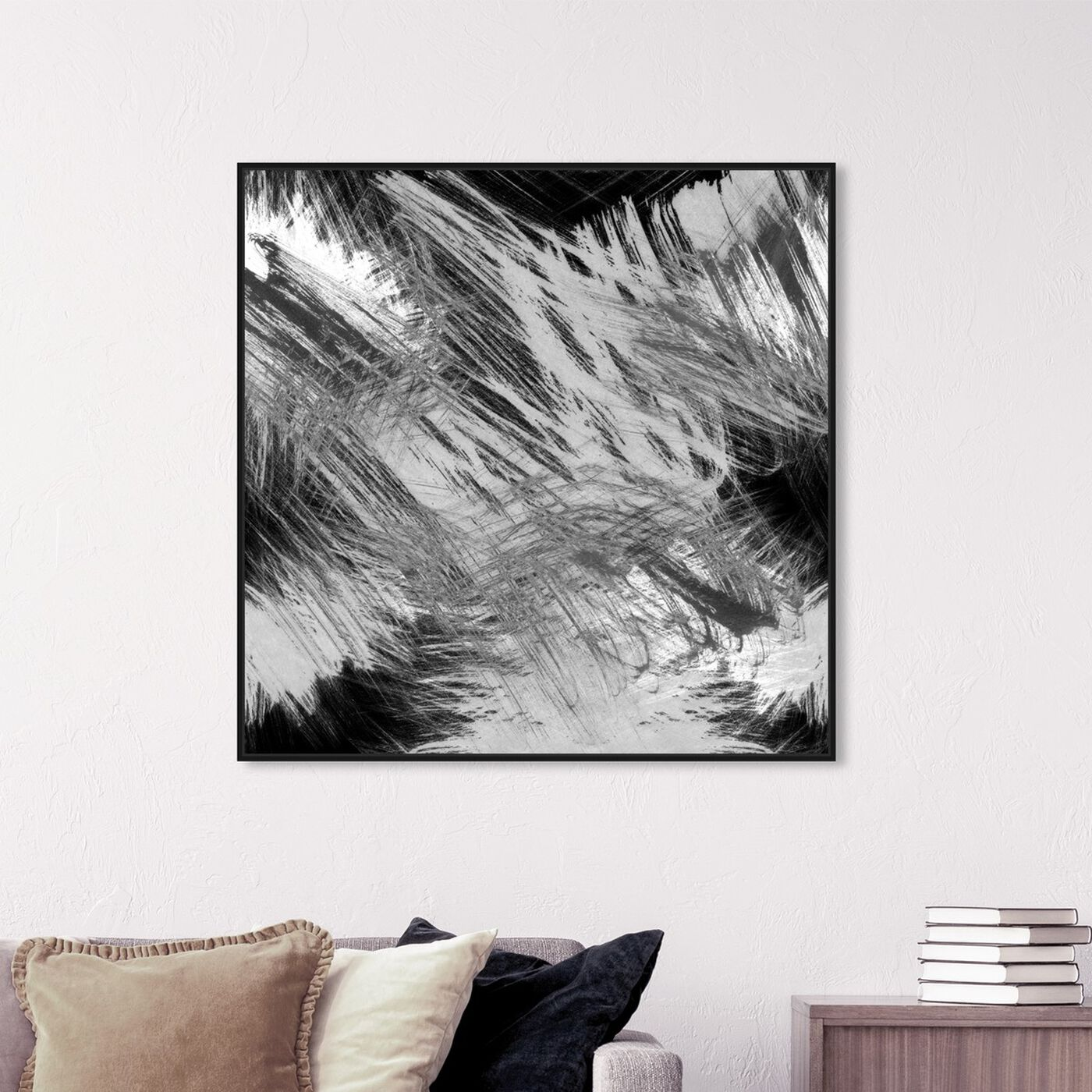 Hanging view of Licorice featuring abstract and paint art.