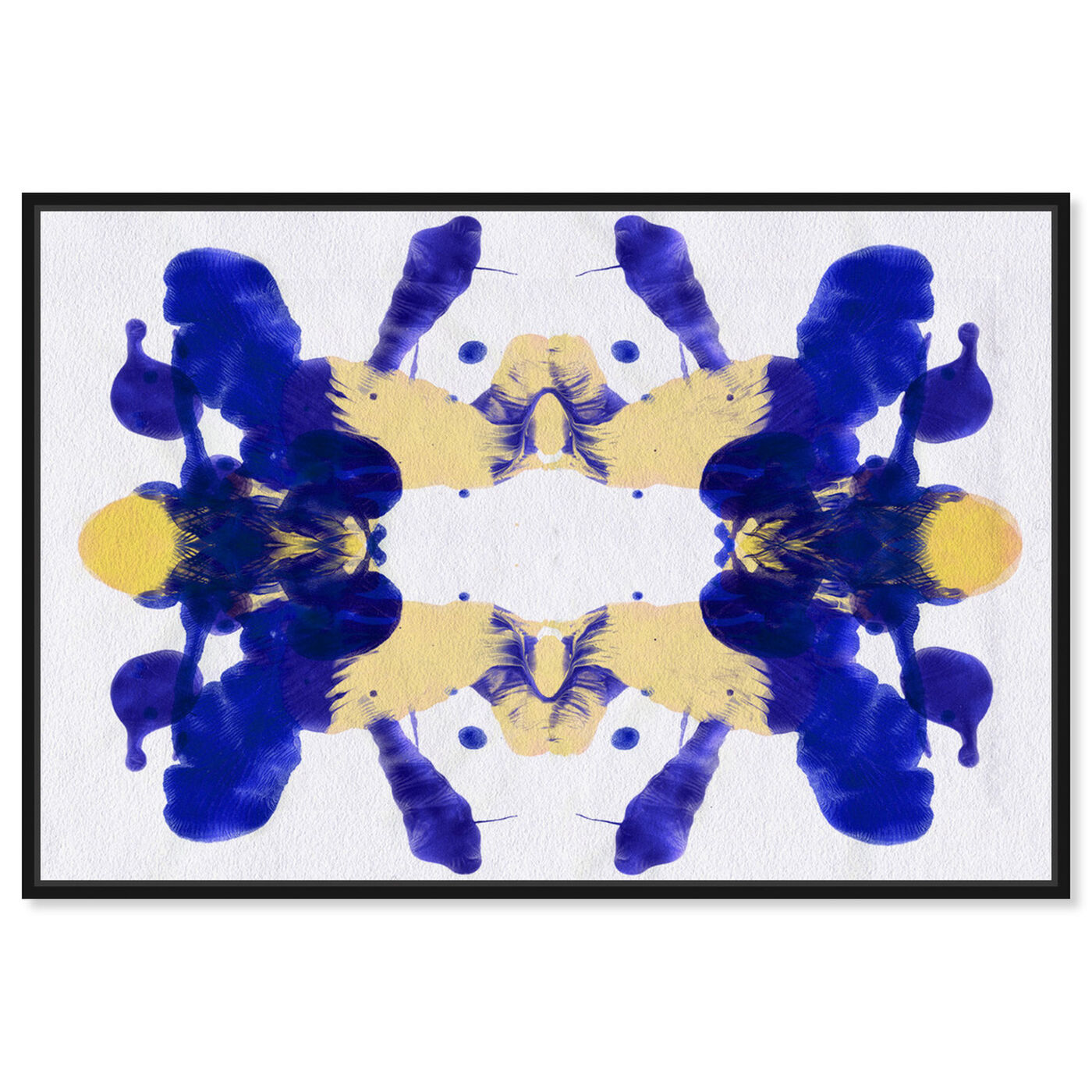 Front view of Blue Veranda - Signature Collection featuring abstract and paint art.