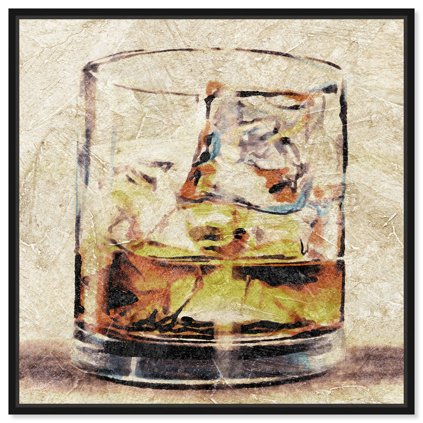 Front view of Scotch Glass featuring drinks and spirits and liquor art.