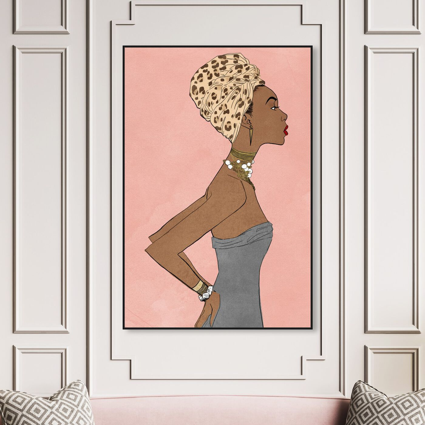 Hanging view of Prowess Queen Blush featuring fashion and glam and portraits art.