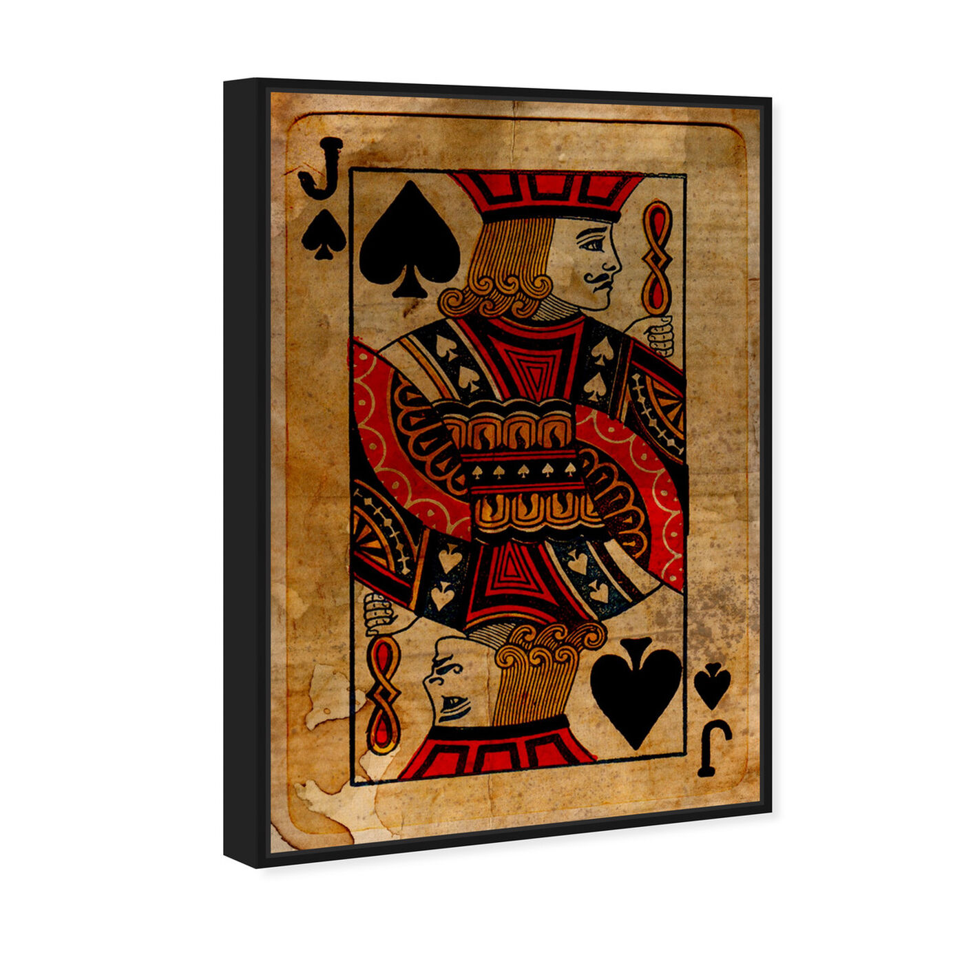 Angled view of Jack of Spades featuring entertainment and hobbies and playing cards art.