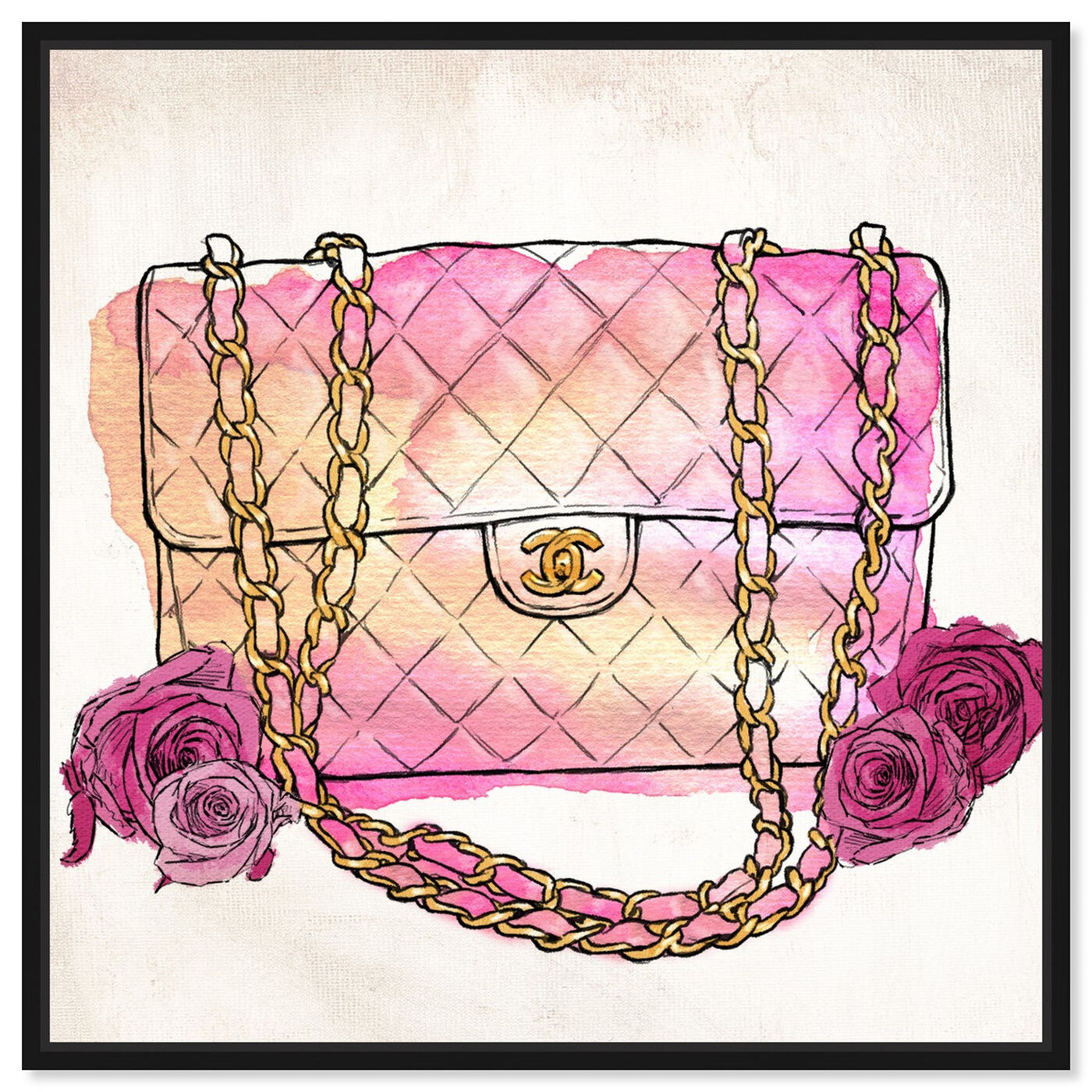 Front view of Love at First Quilt featuring fashion and glam and handbags art.