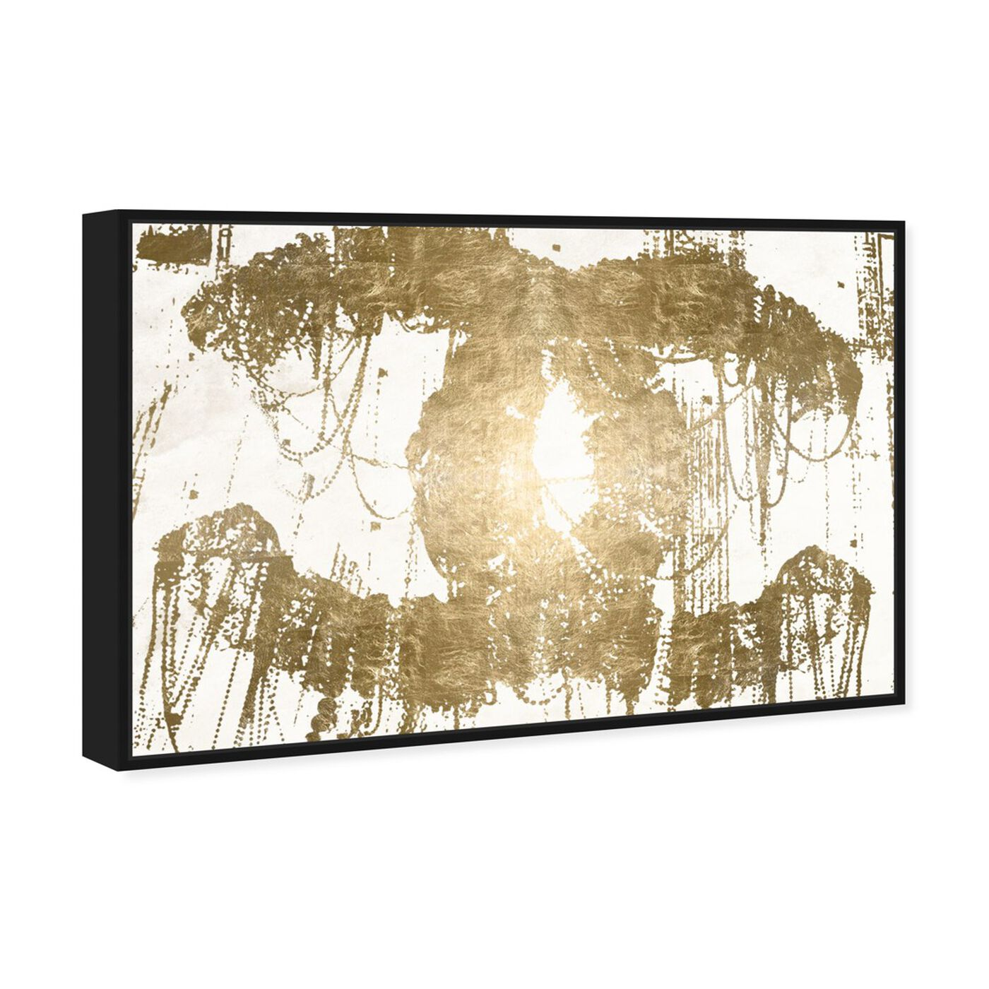 Angled view of Hey Lolita Gold Canvas featuring fashion and glam and road signs art.