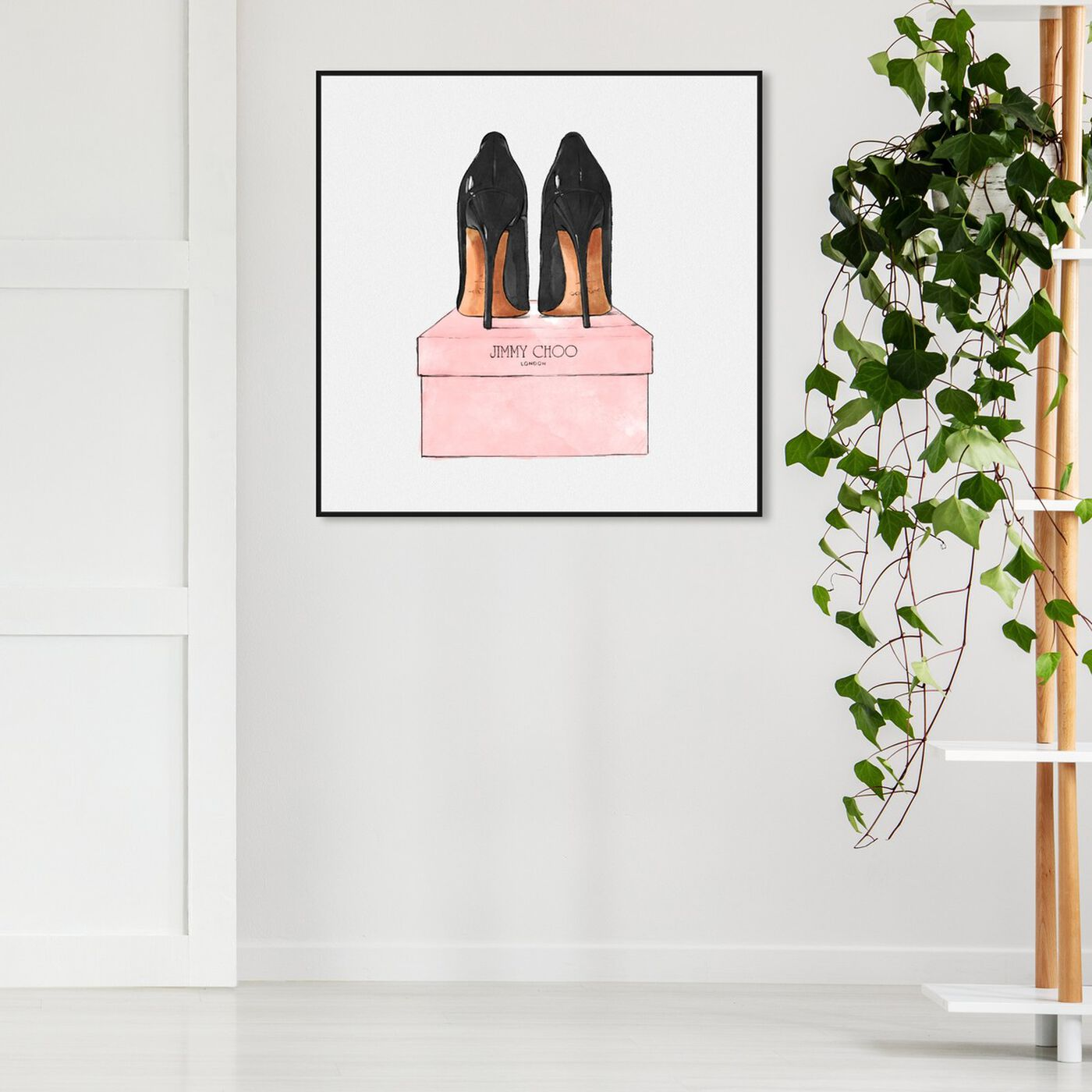 Hanging view of Night Out Stilettos Square featuring fashion and glam and shoes art.
