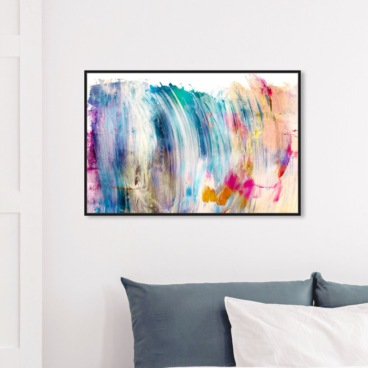 Hanging view of That New Love featuring abstract and paint art.