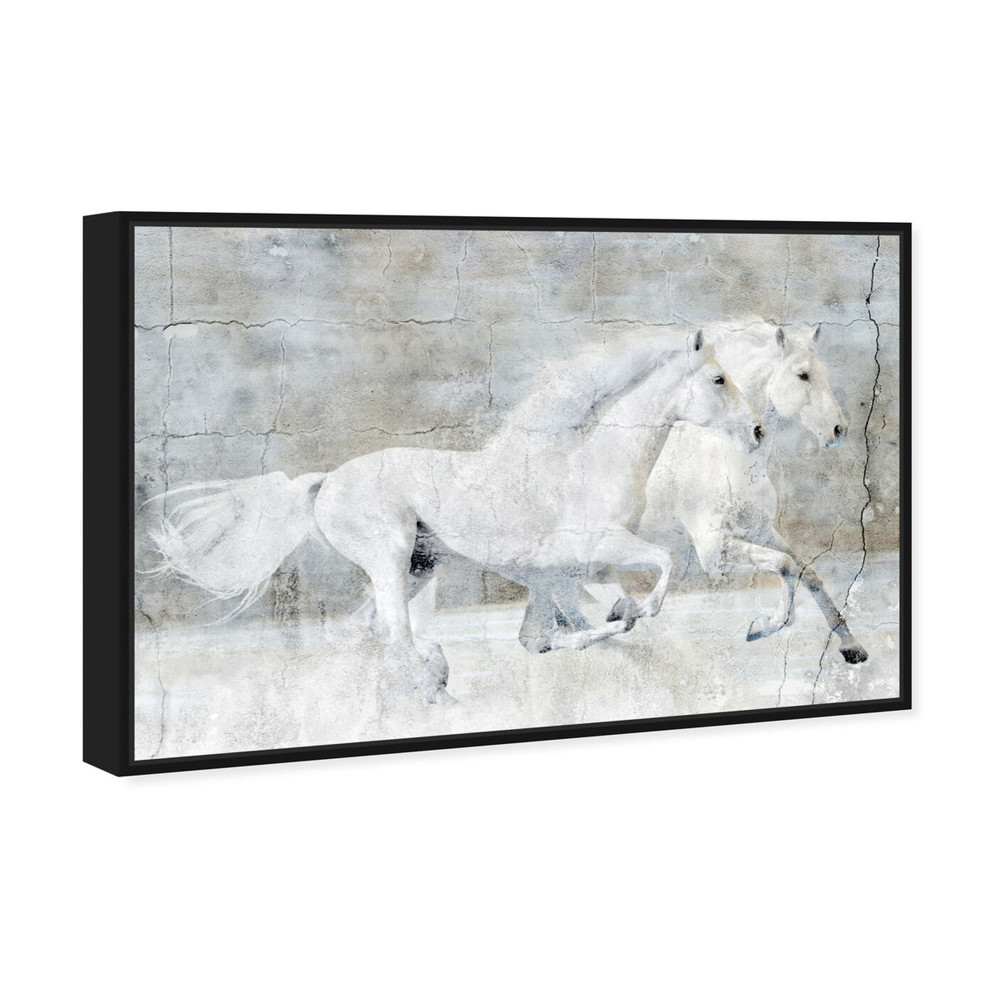 Angled view of Running Wild featuring animals and farm animals art.