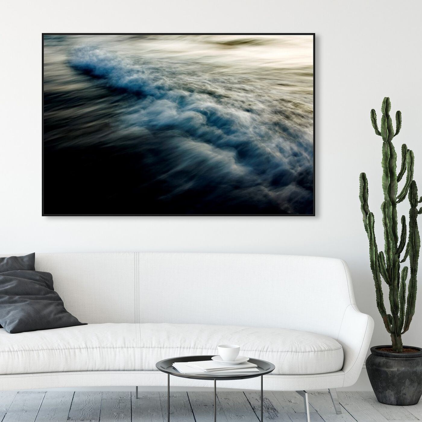 Hanging view of Eternal Waves featuring nautical and coastal and coastal landscapes art.