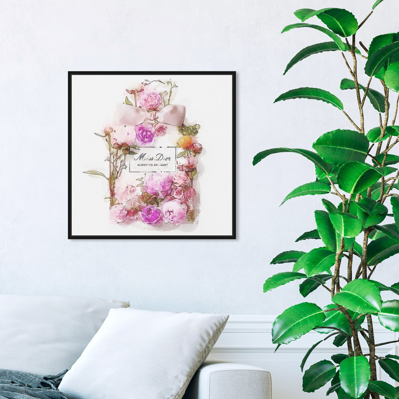 Hanging view of Bouquet featuring fashion and glam and perfumes art.