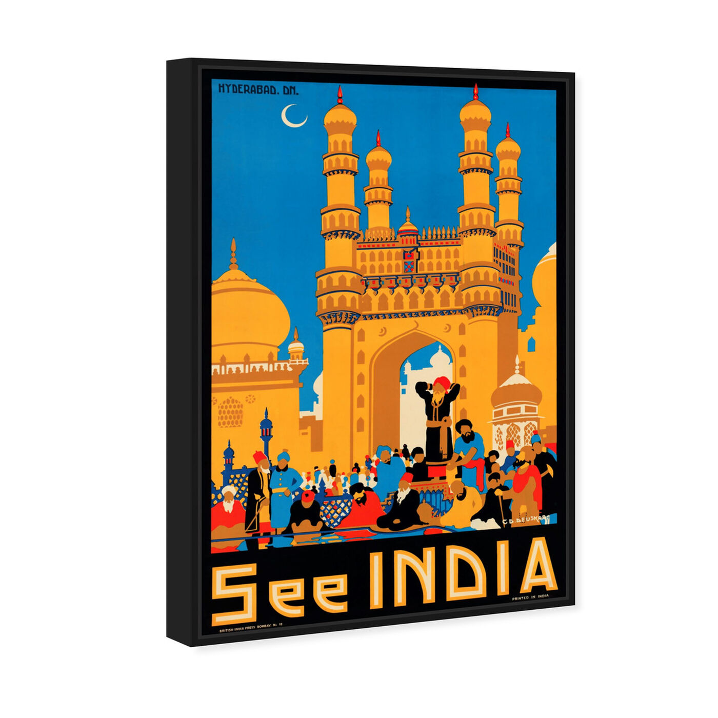 Angled view of See India featuring world and countries and asian countries art.