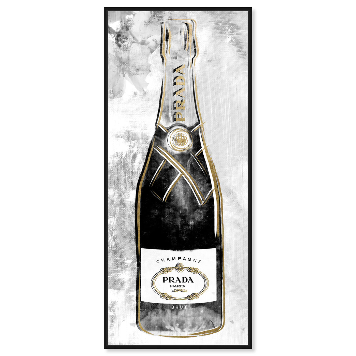 Front view of Milan Champagne featuring fashion and glam and lifestyle art.