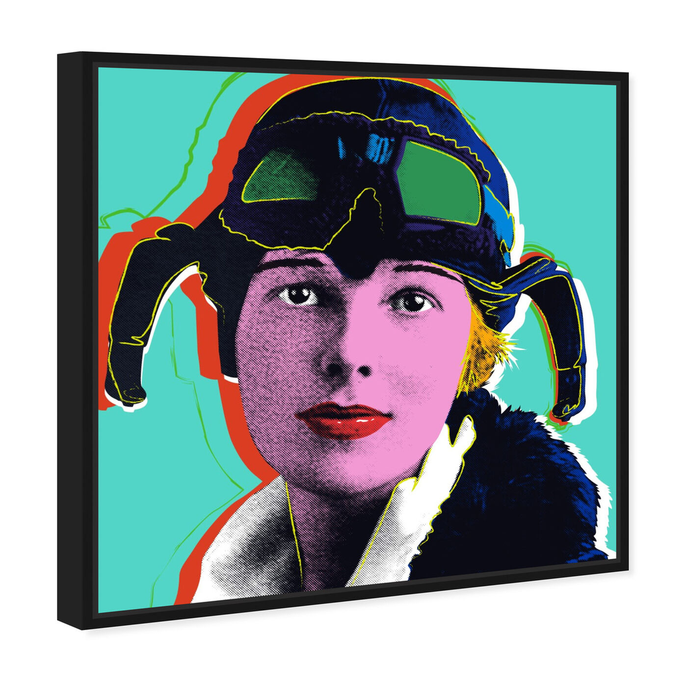 Angled view of Amelia Earhart featuring people and portraits and celebrities art.
