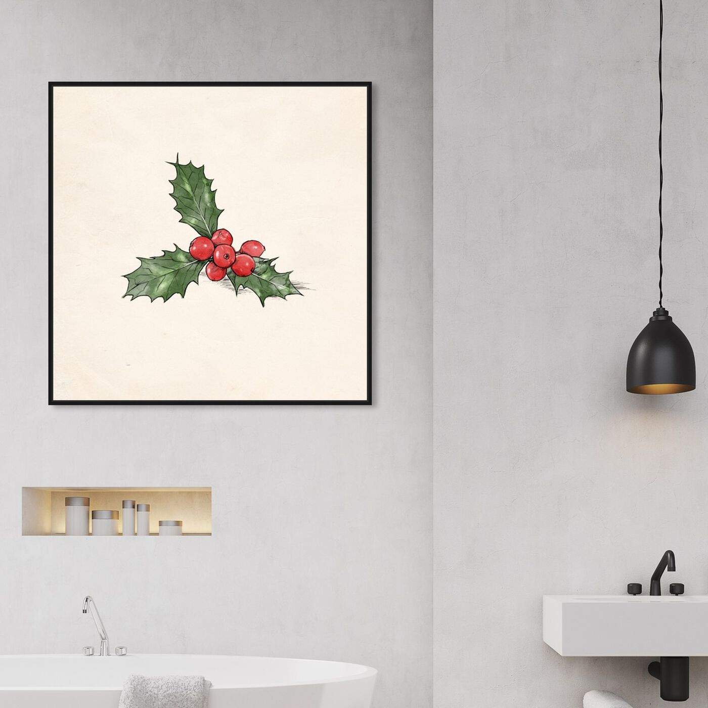 Hanging view of Mistletoe featuring holiday and seasonal and holidays art.