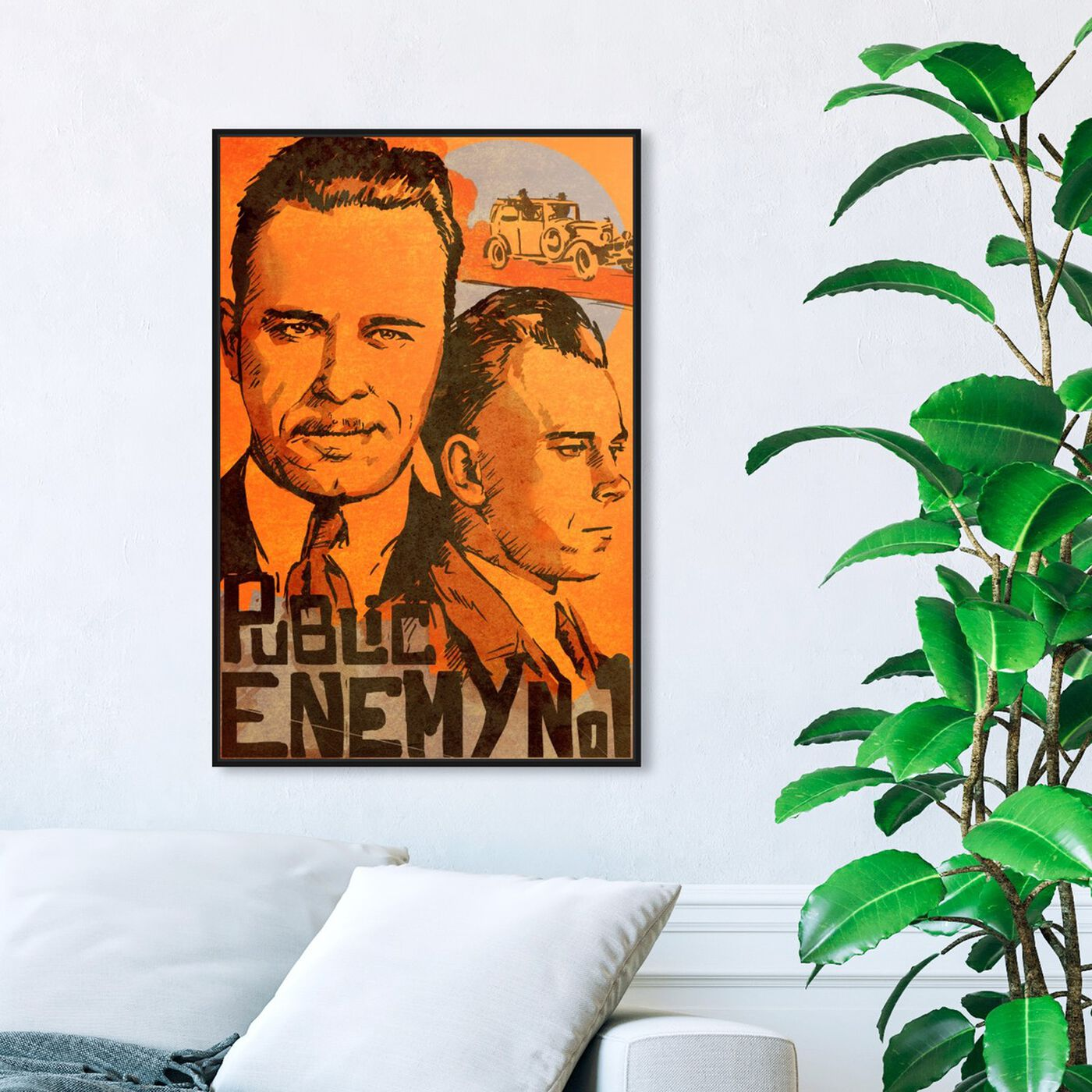 Hanging view of Dillinger Public Enemy featuring movies and tv and action movies art.
