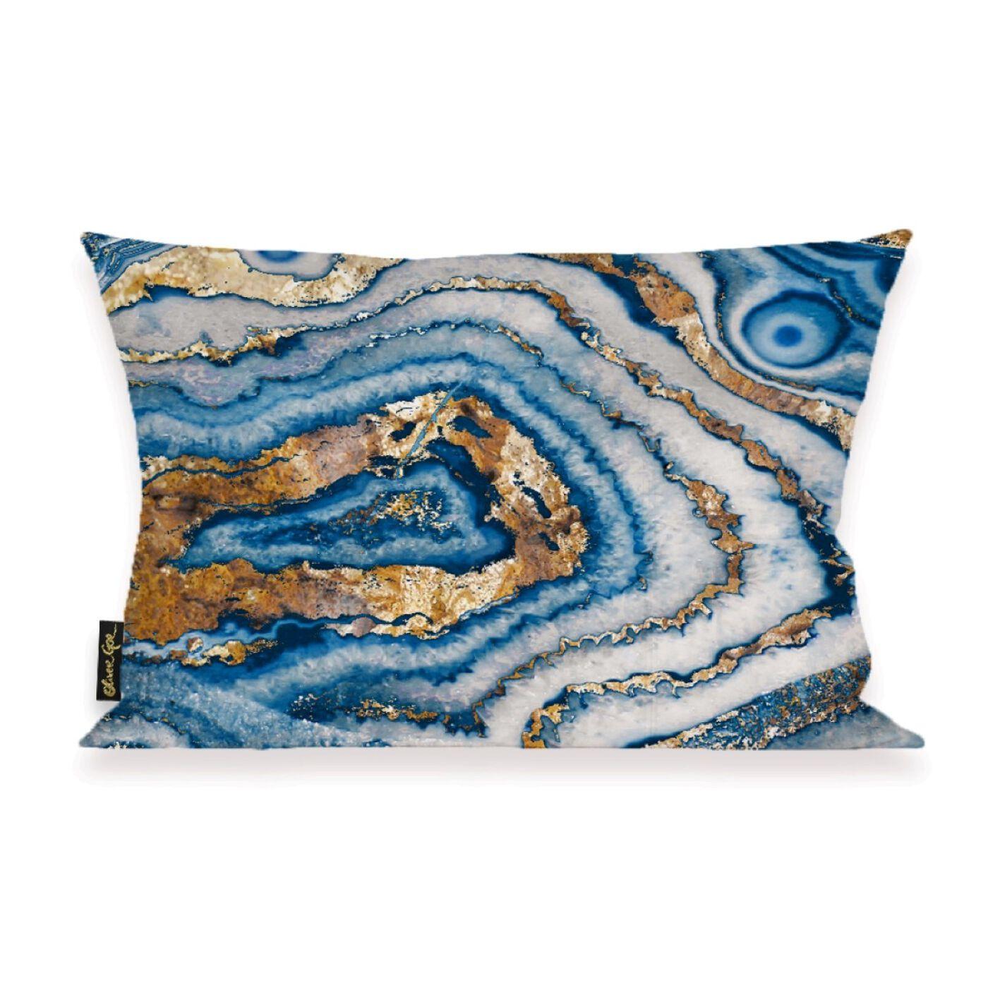 Bleu Agate Pillow II