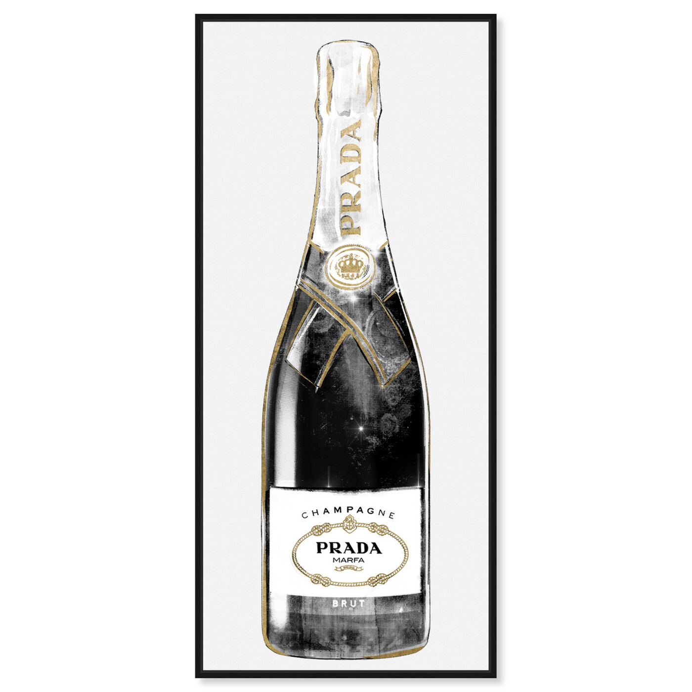 Front view of Trendy Milan Champagne Tall featuring fashion and glam and lifestyle art.