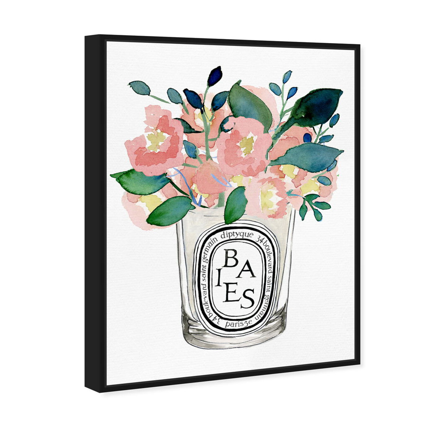 Angled view of Scent Du Jour featuring floral and botanical and florals art.