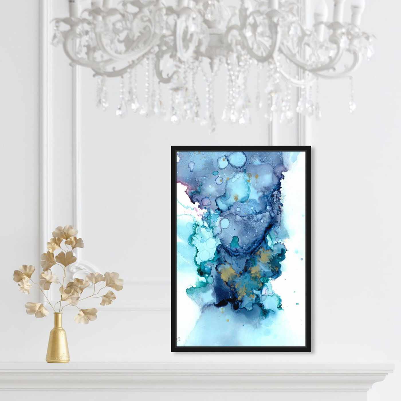 Hanging view of Jamie Blicher - Whitney featuring abstract and watercolor art.