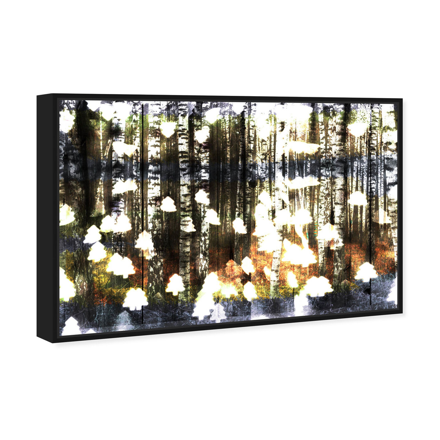 Angled view of Birch Land featuring nature and landscape and forest landscapes art.