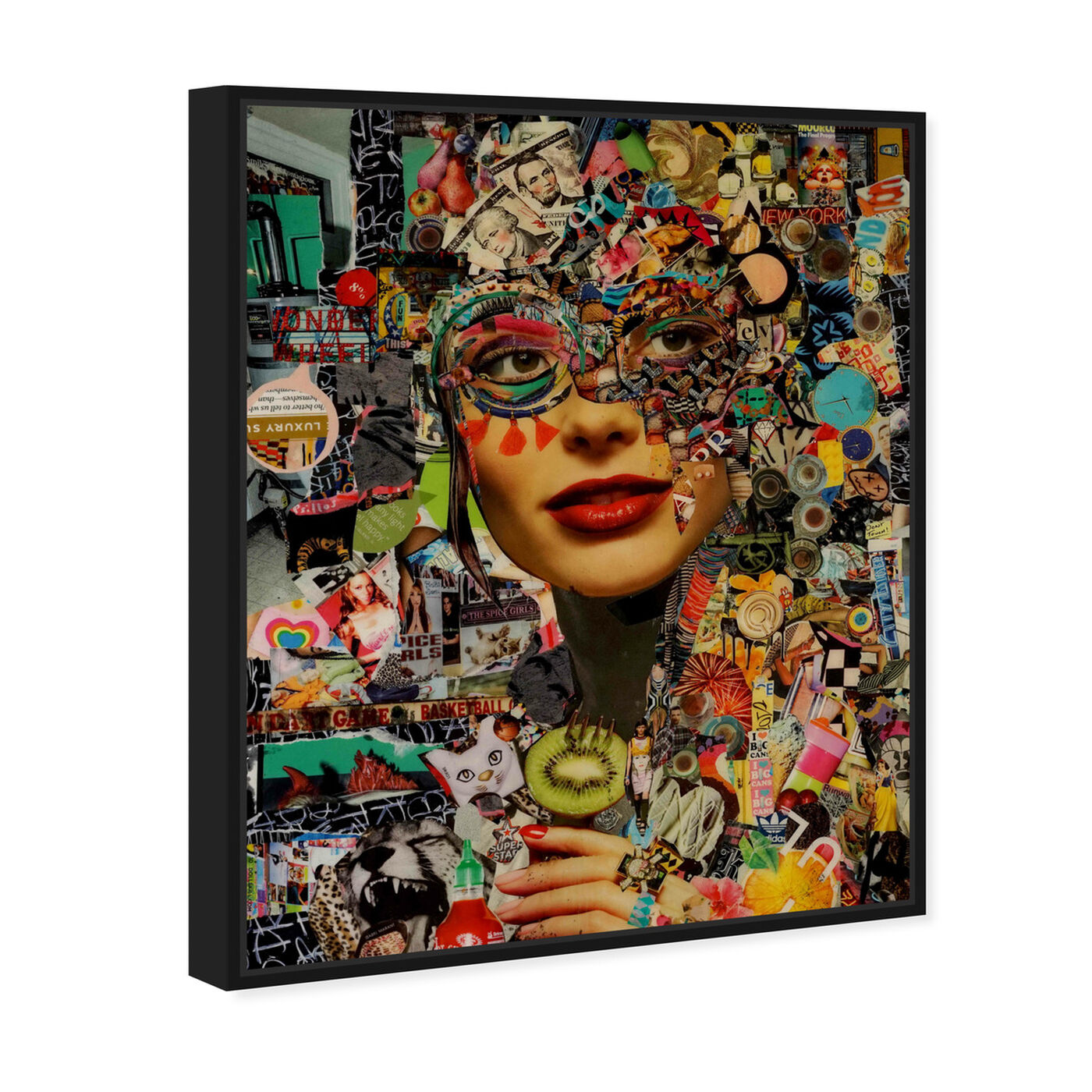 Angled view of Katy Hirschfeld- Sweet and Sour featuring fashion and glam and portraits art.