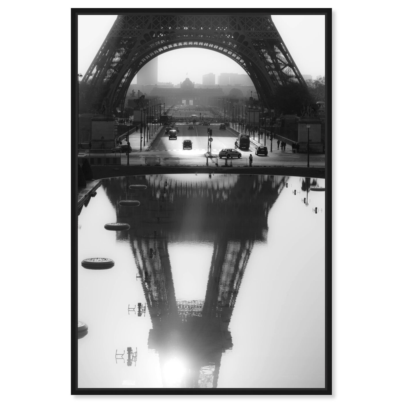 Front view of Sai - Paris Reflections featuring cities and skylines and european cities art.