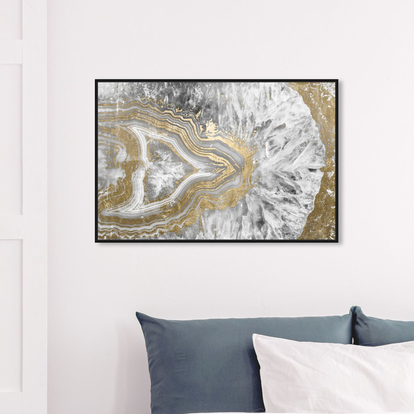 Hanging view of Agate Geode Crystal featuring abstract and crystals art.