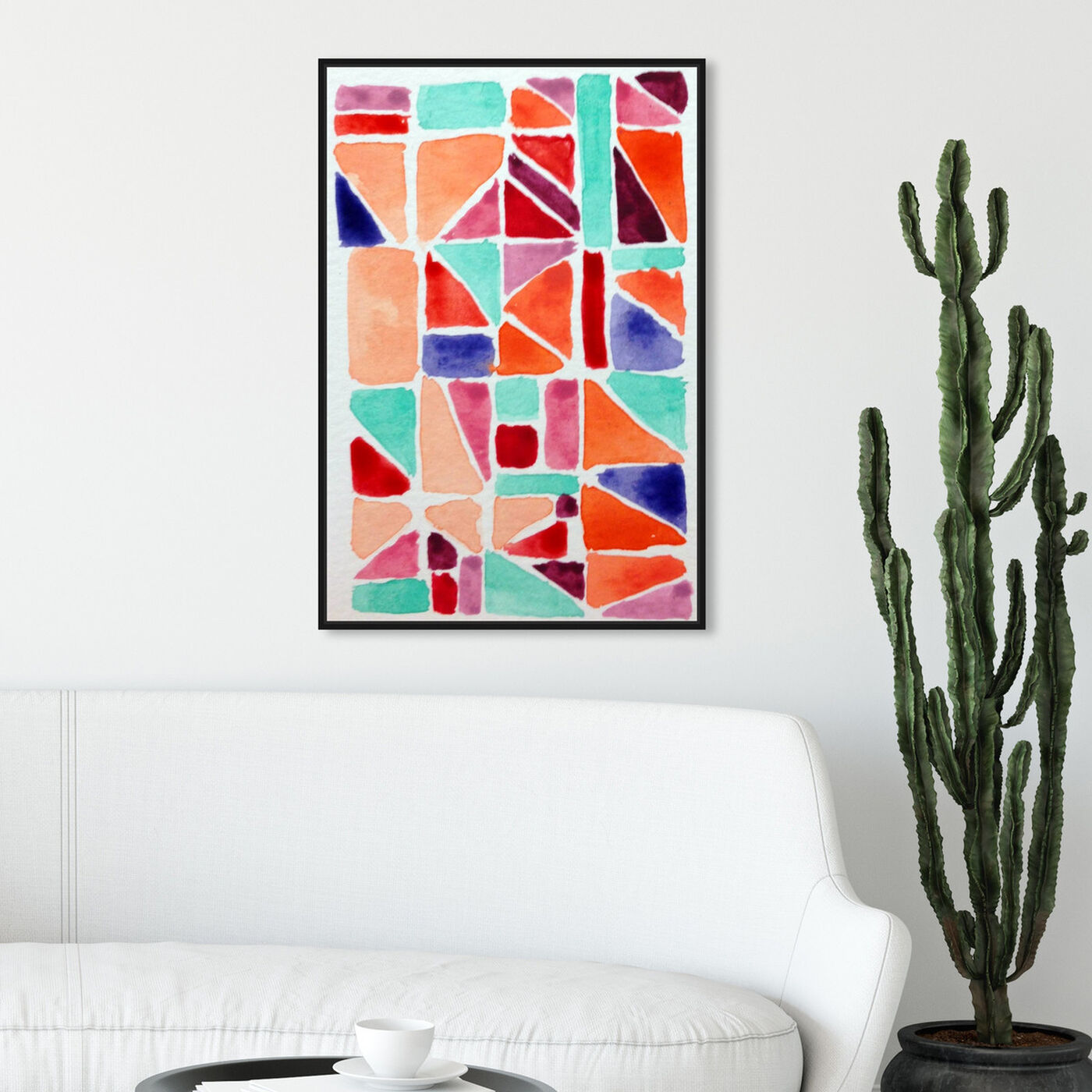 Hanging view of Small Details featuring abstract and geometric art.