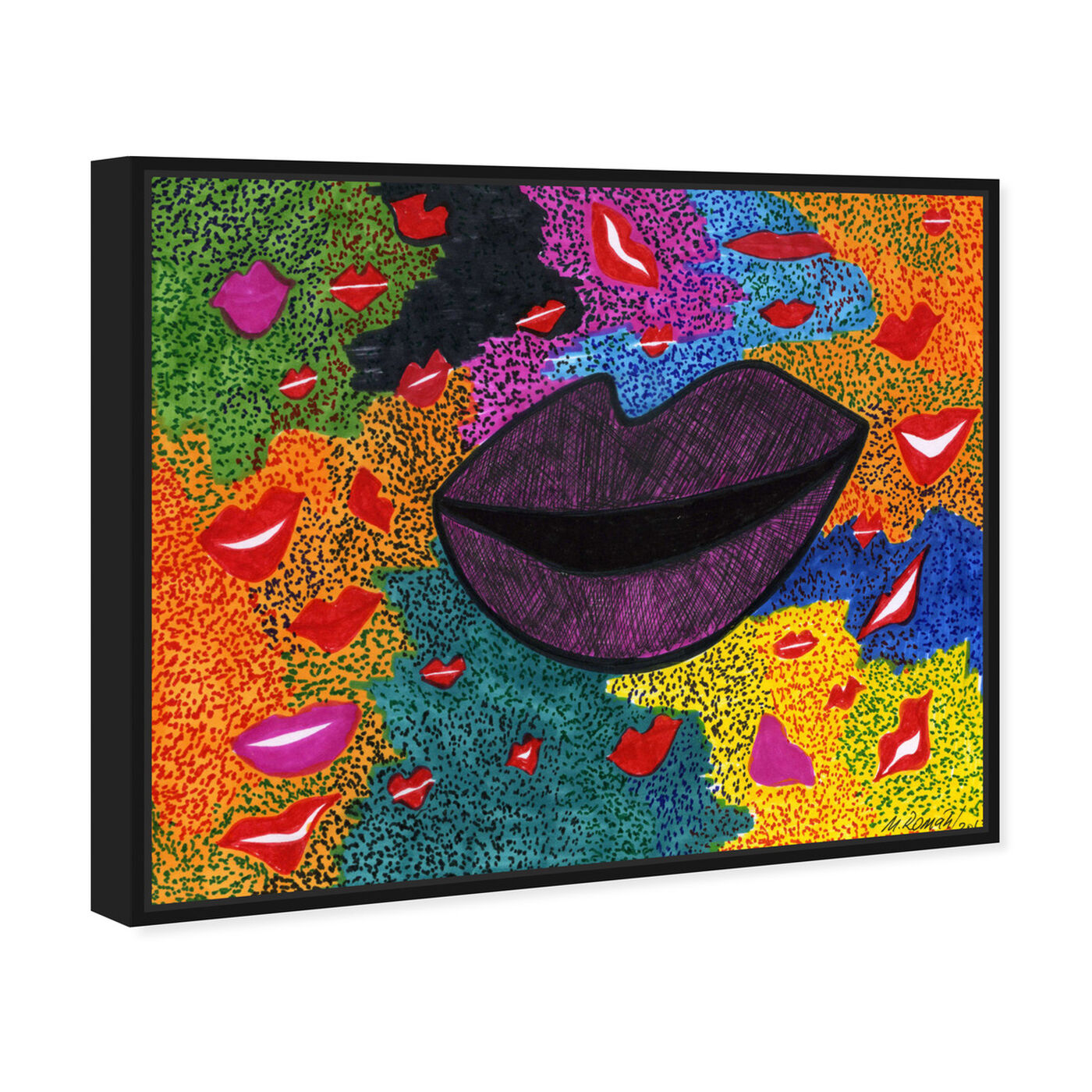 Angled view of Laughter featuring fashion and glam and lips art.