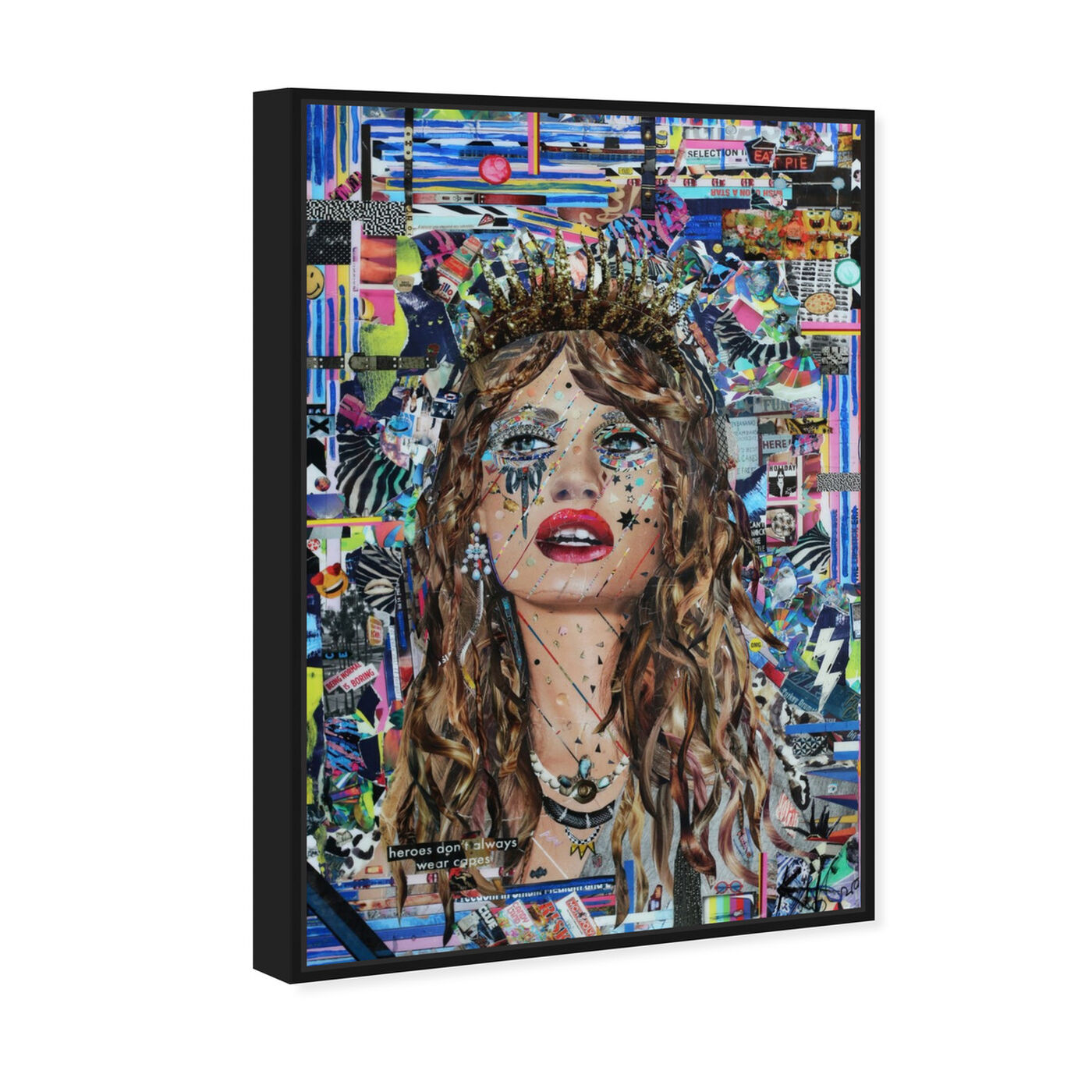 Angled view of Heroes by Katy Hirschfeld featuring fashion and glam and portraits art.