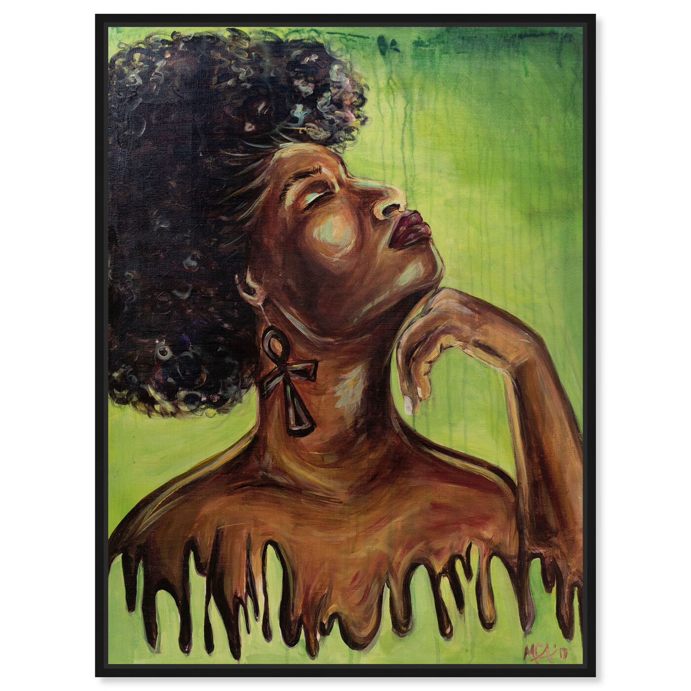 Front view of Marissa Anderson - Dripping Melanin featuring people and portraits and portraits art.