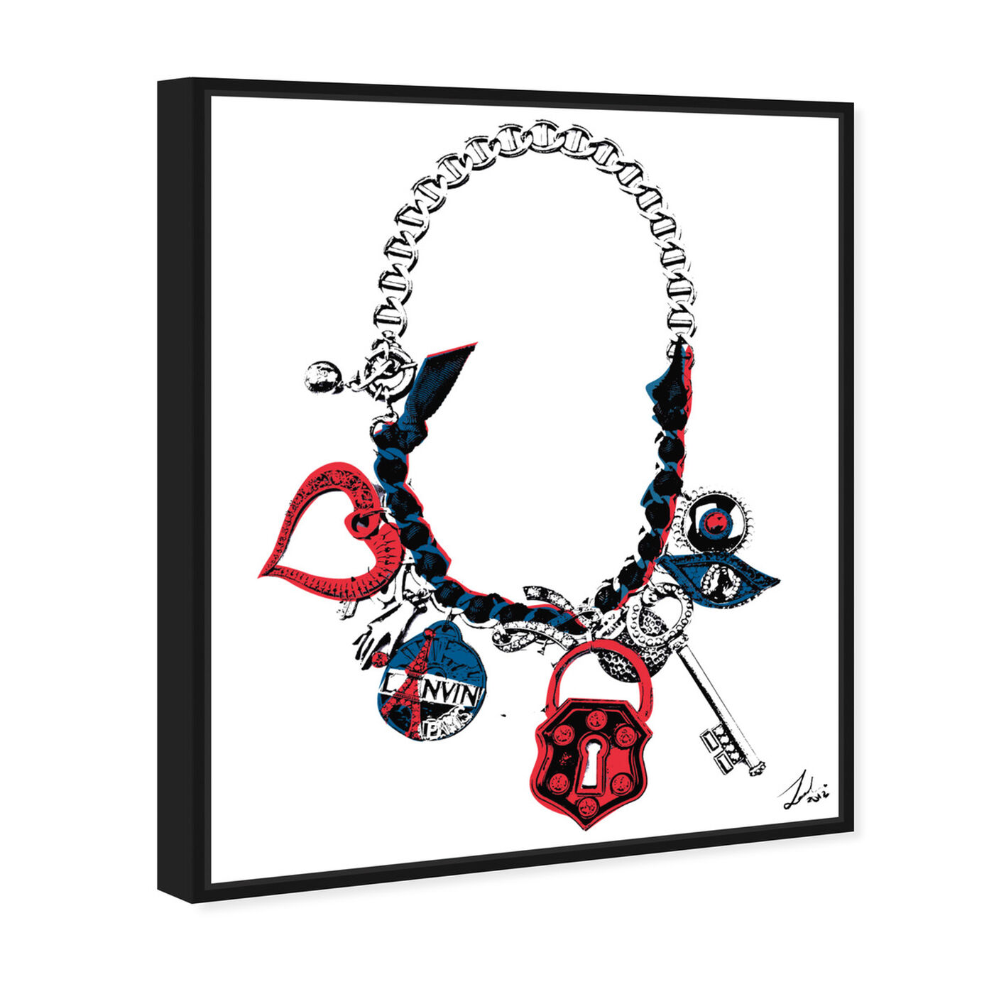 Angled view of Paris on my Neck featuring fashion and glam and jewelry art.