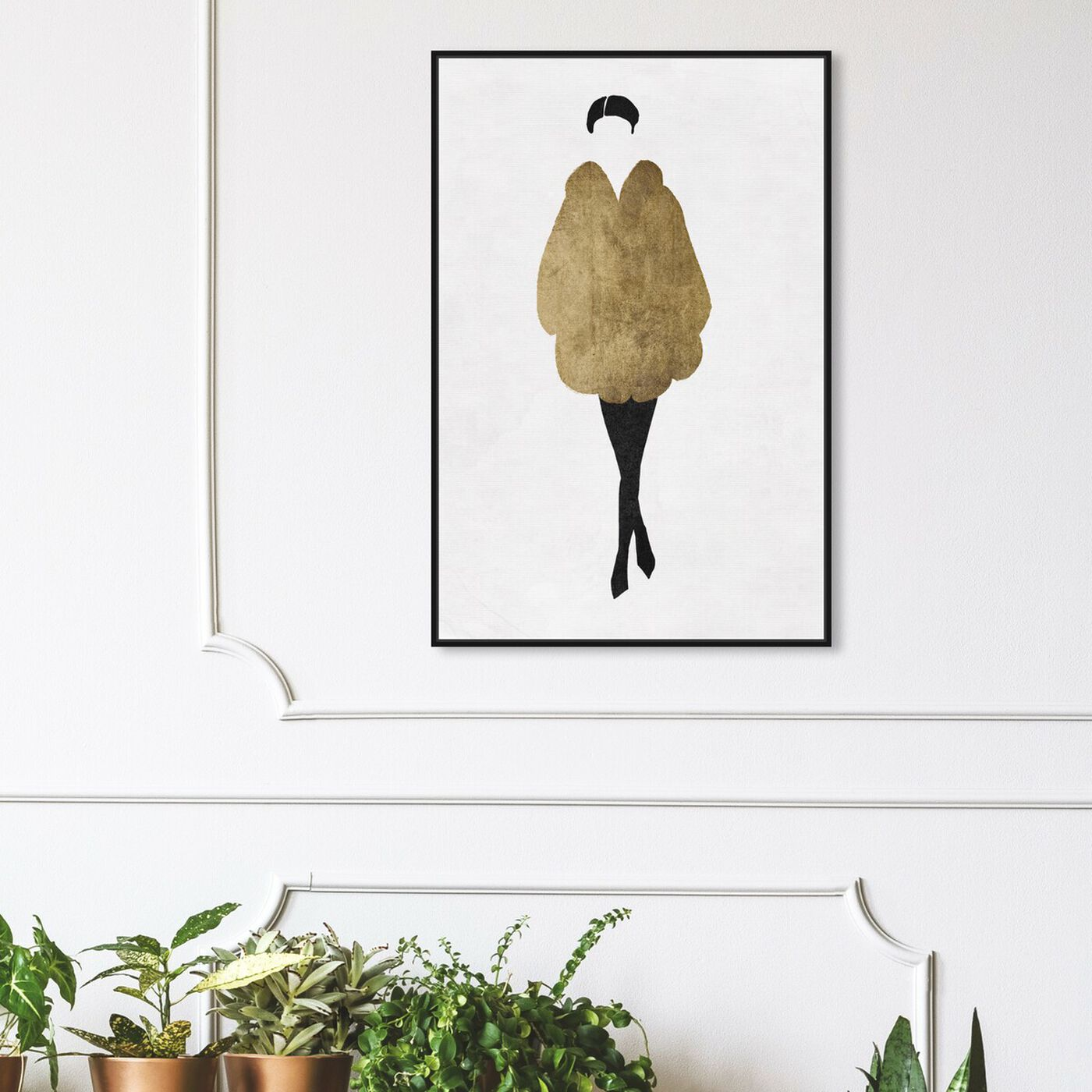 Hanging view of Silhouette of a Girl II II featuring fashion and glam and outfits art.