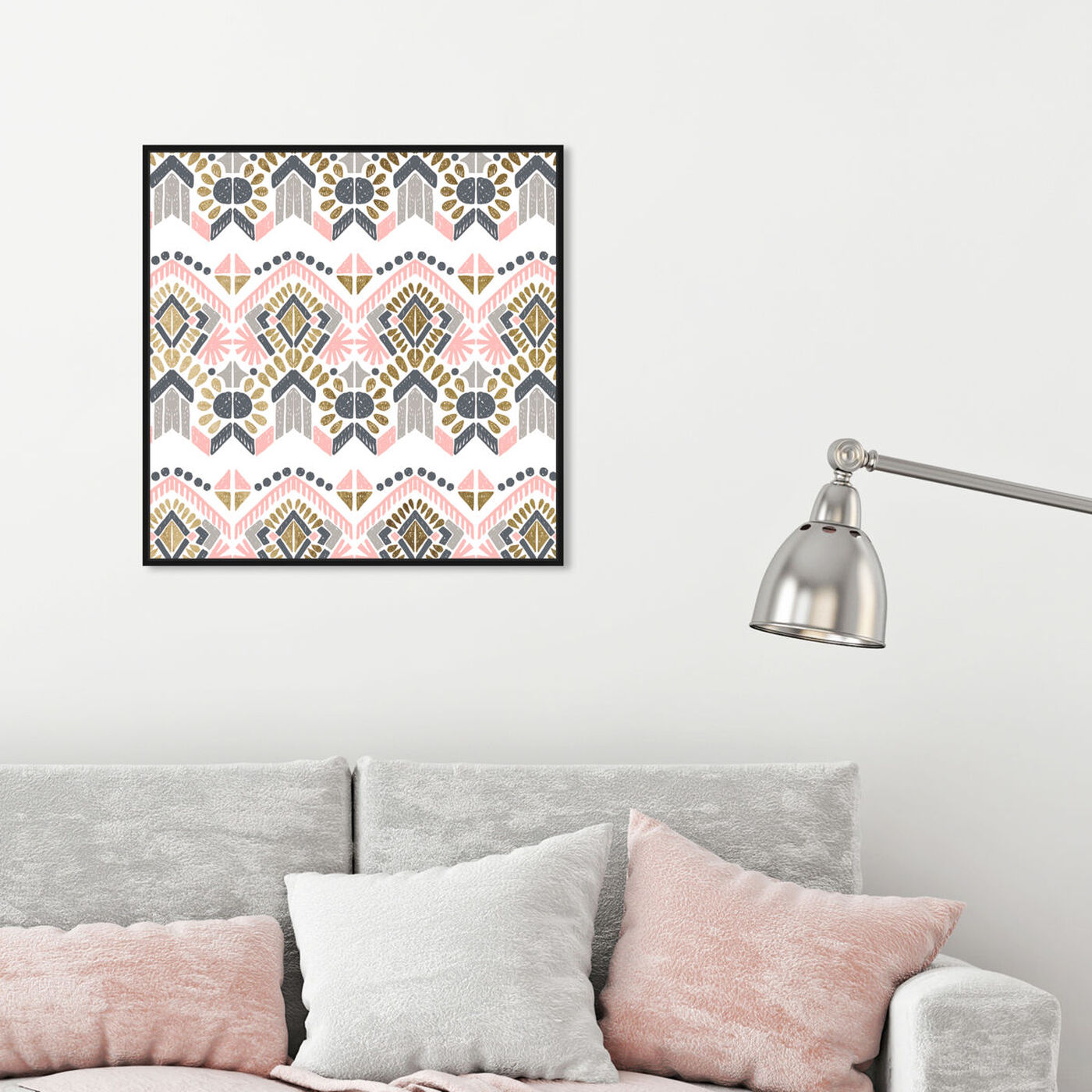 Hanging view of Soft Tribal featuring abstract and patterns art.