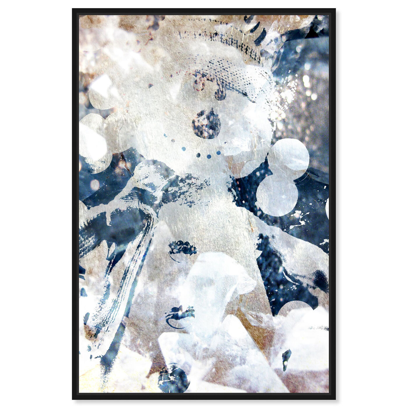 Front view of Snocool featuring abstract and textures art.