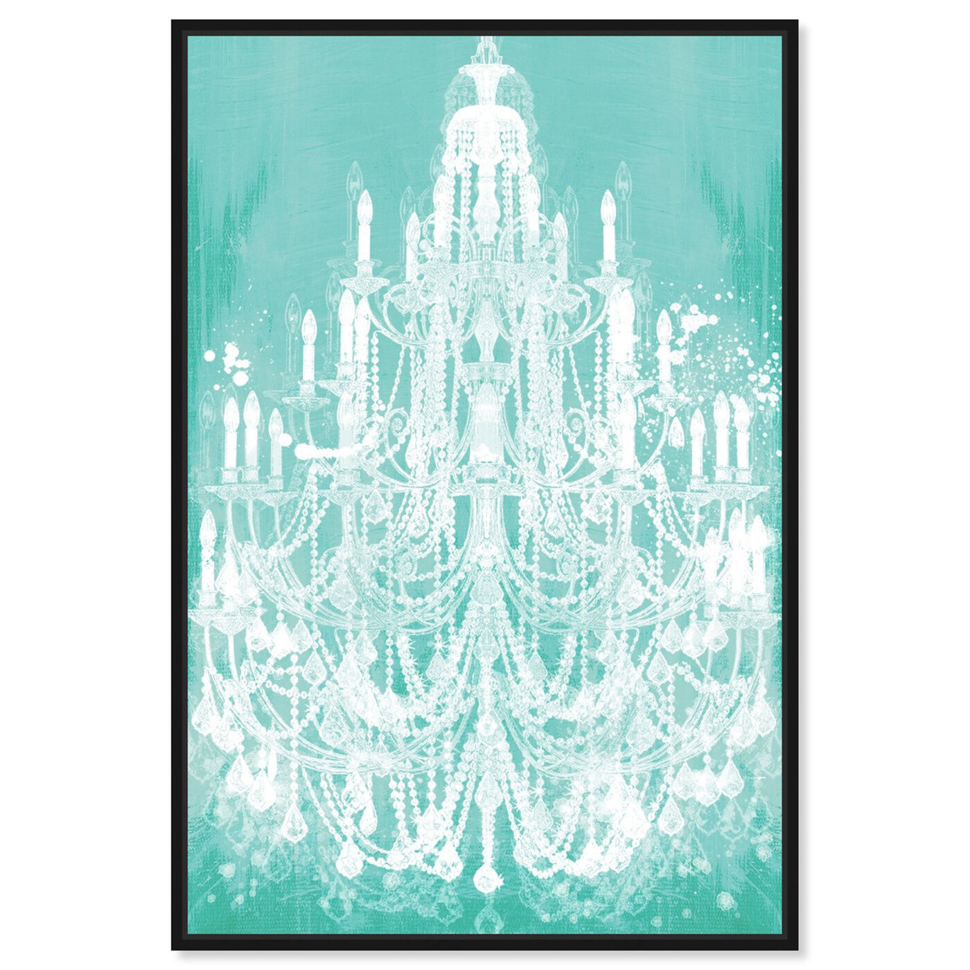 Front view of Privee Diamonds Mint featuring fashion and glam and chandeliers art.