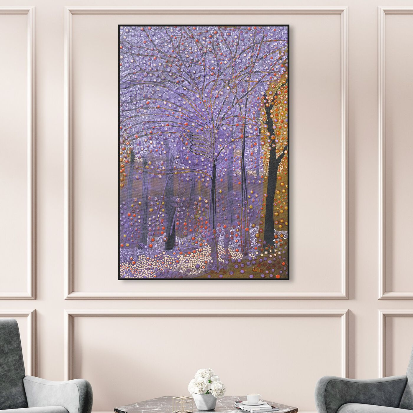Hanging view of Enriqueta Ahrensburg - Spring I featuring nature and landscape and forest landscapes art.