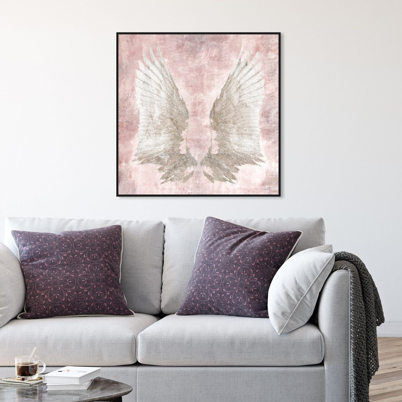 Hanging view of Chie's Freedom Wings featuring fashion and glam and feathers art.