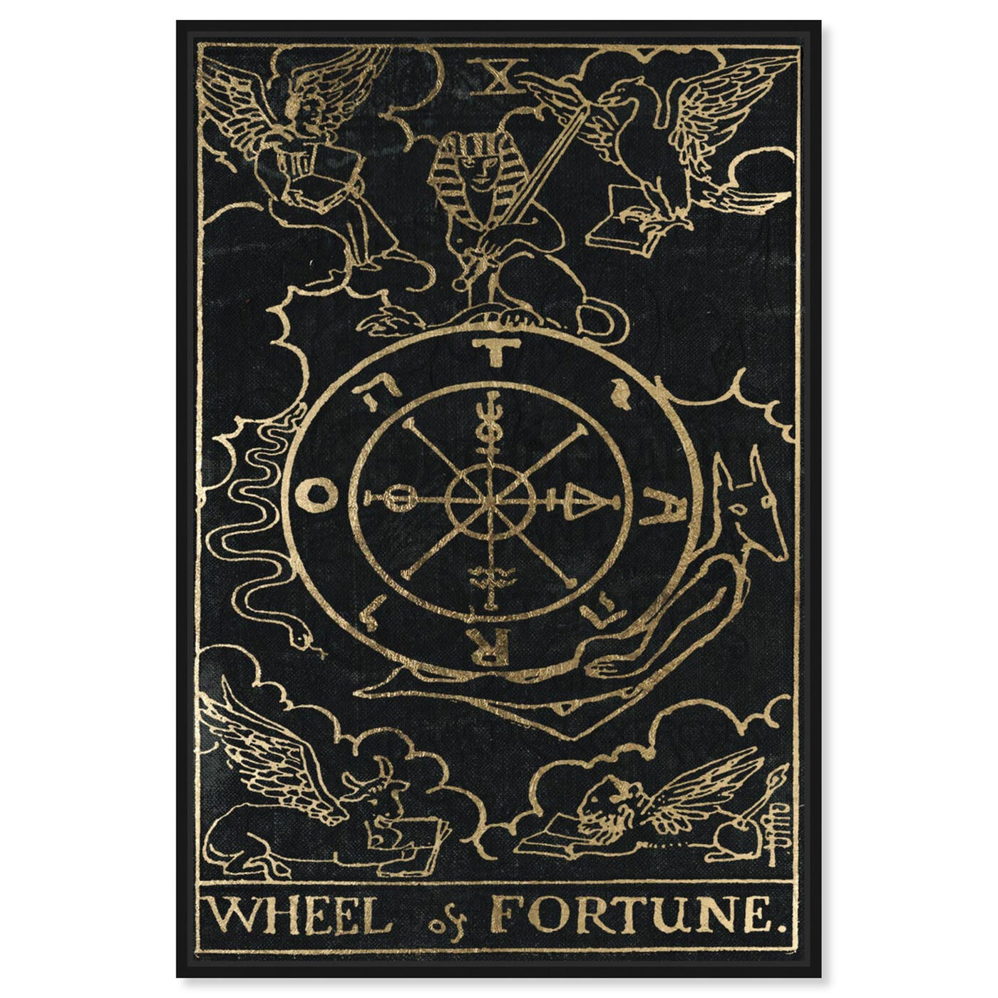 Front view of Wheel of Fortune featuring spiritual and religious and astrology art.