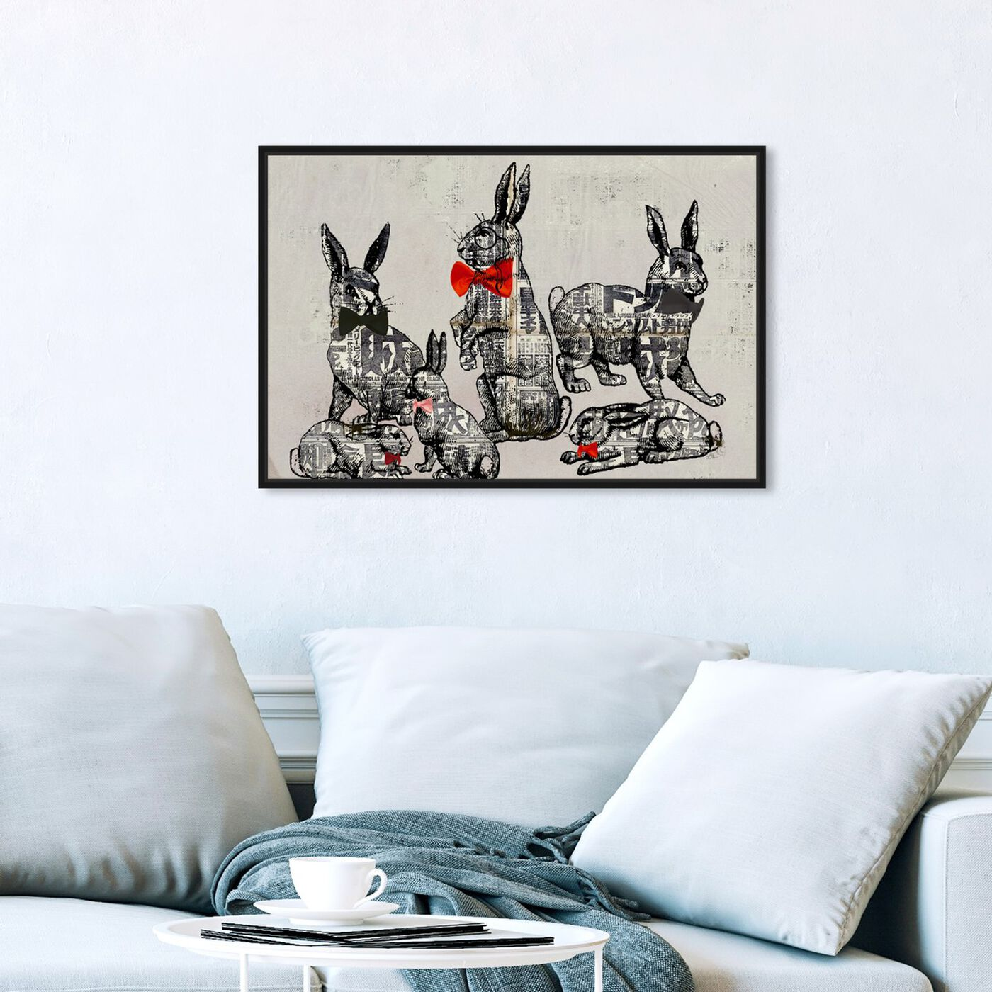 Hanging view of Suit and Tie featuring animals and farm animals art.