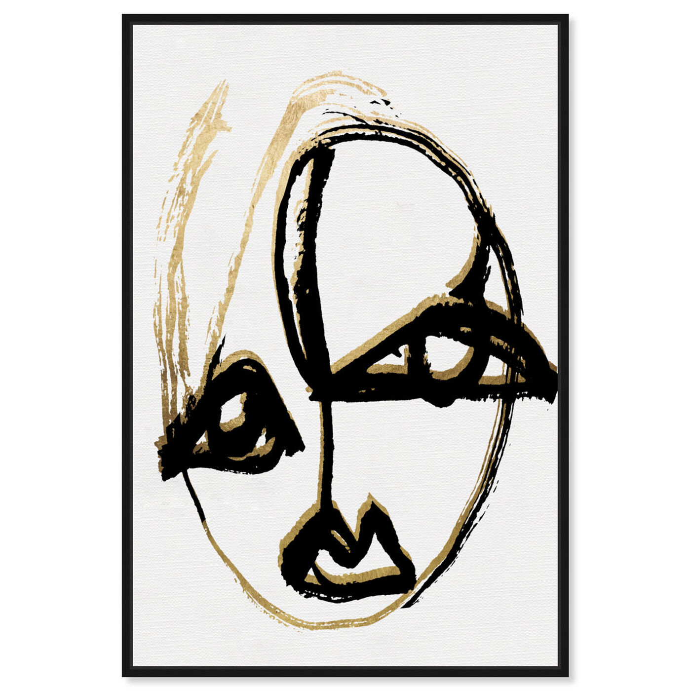 Front view of abstract Portrait II featuring abstract and paint art.