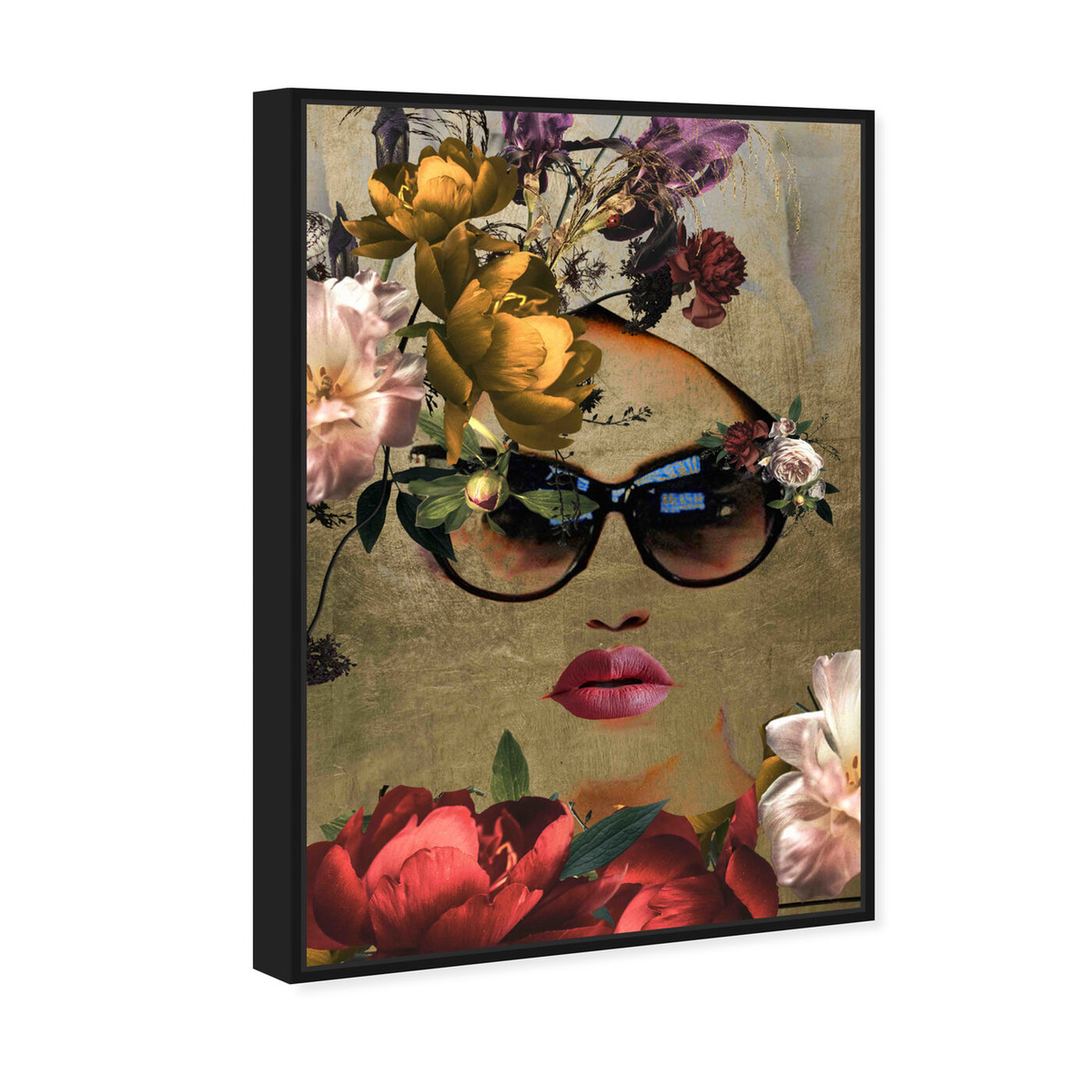 Angled view of Mambo Queen featuring fashion and glam and lips art.