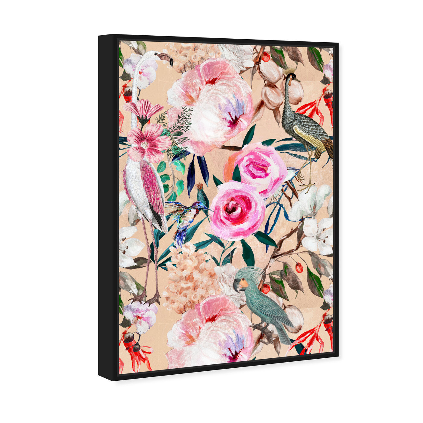 Angled view of Le Tropic II featuring floral and botanical and florals art.