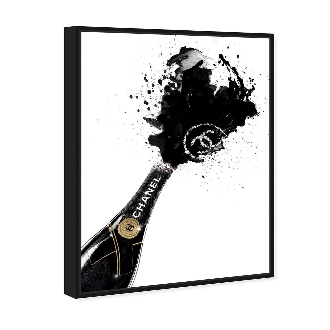 Angled view of Noir Champagne featuring fashion and glam and lifestyle art.